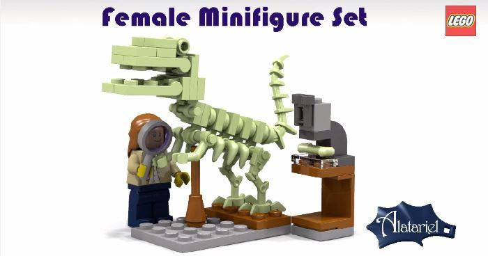 Female Scientist Lego Set