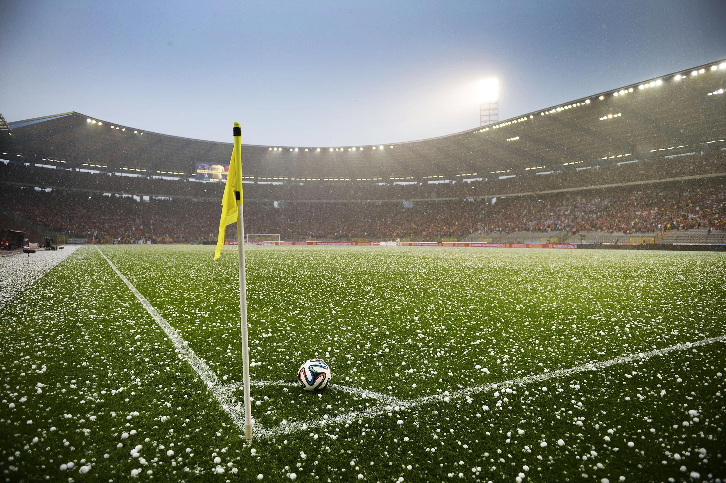 hailstorm halts friendly soccer match in belgium nbc news