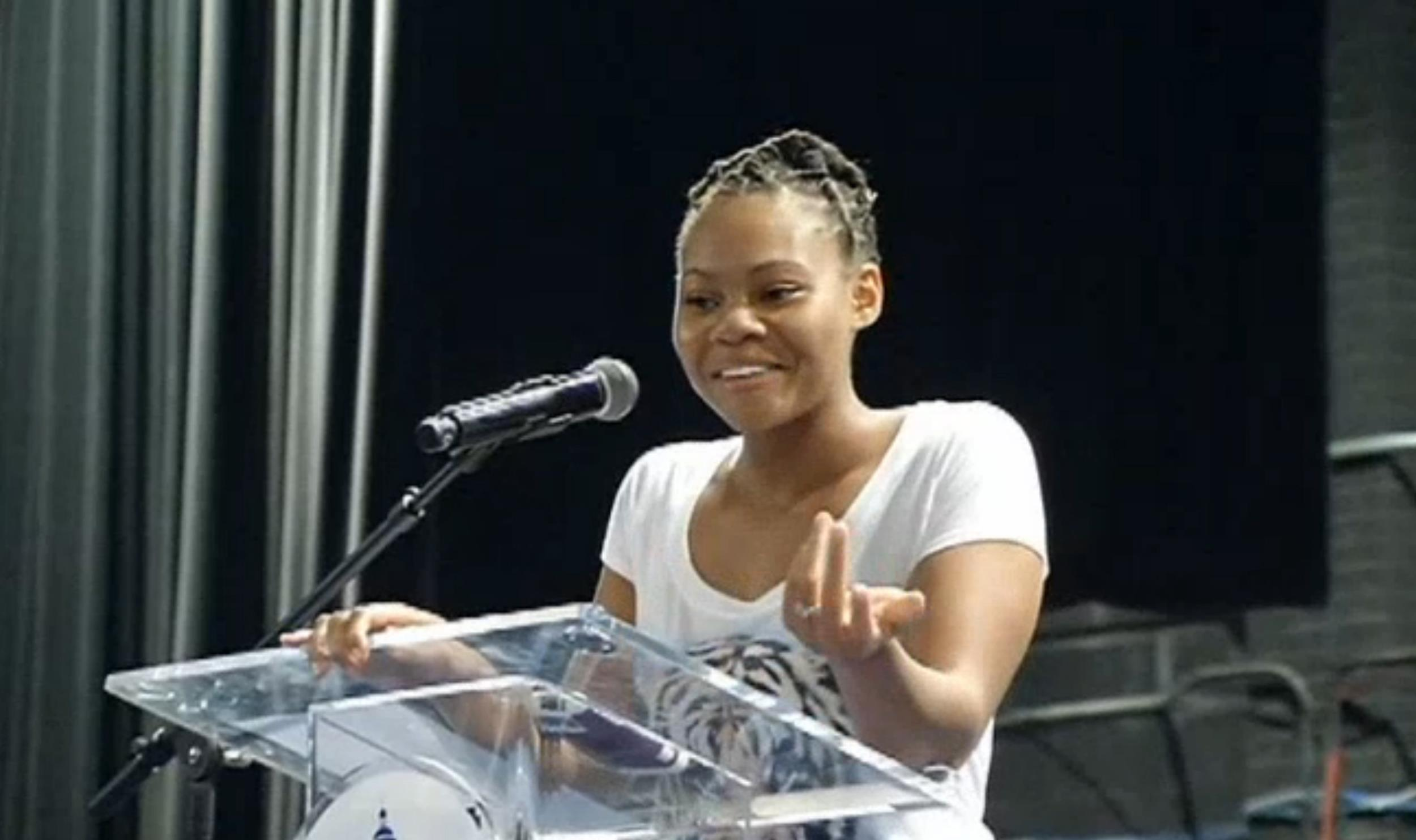 Image: High school valedictorian Rashema Melson earned a a college scholarship despite living at a homeless shelter.