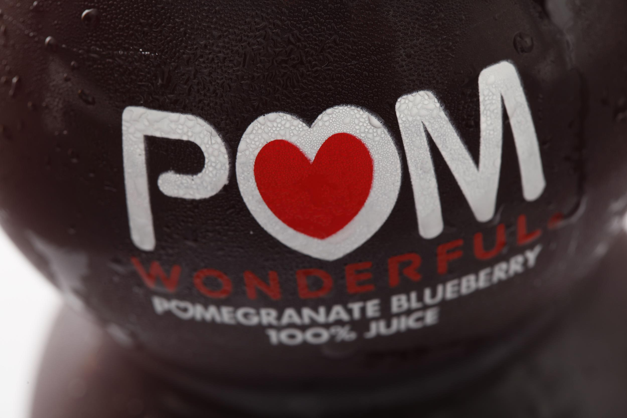 Image: A bottle of POM Wonderful juice in Philadelphia, on Sept. 27, 2010.