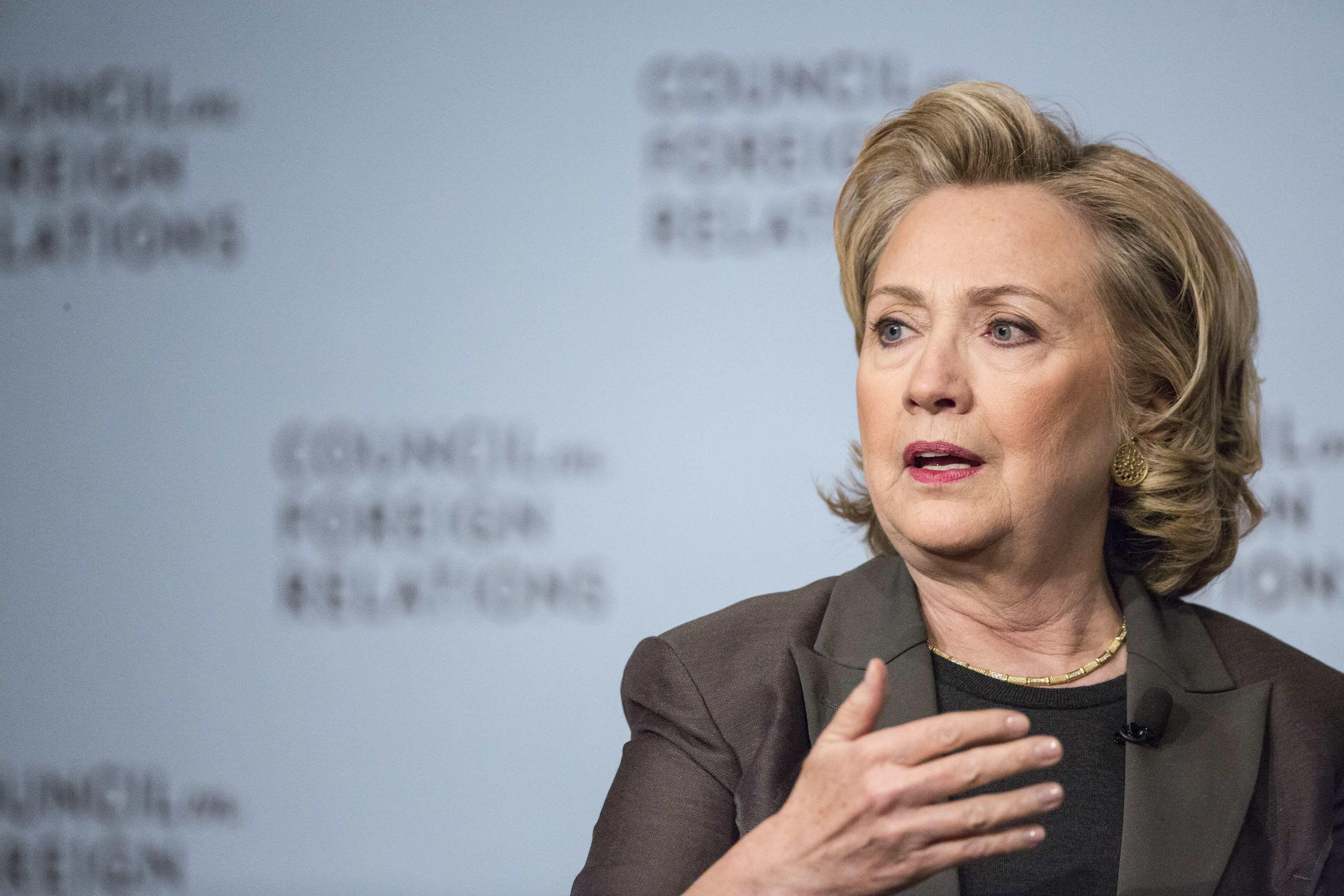 Image: Former U.S. Secretary of State Hillary Clinton participates in