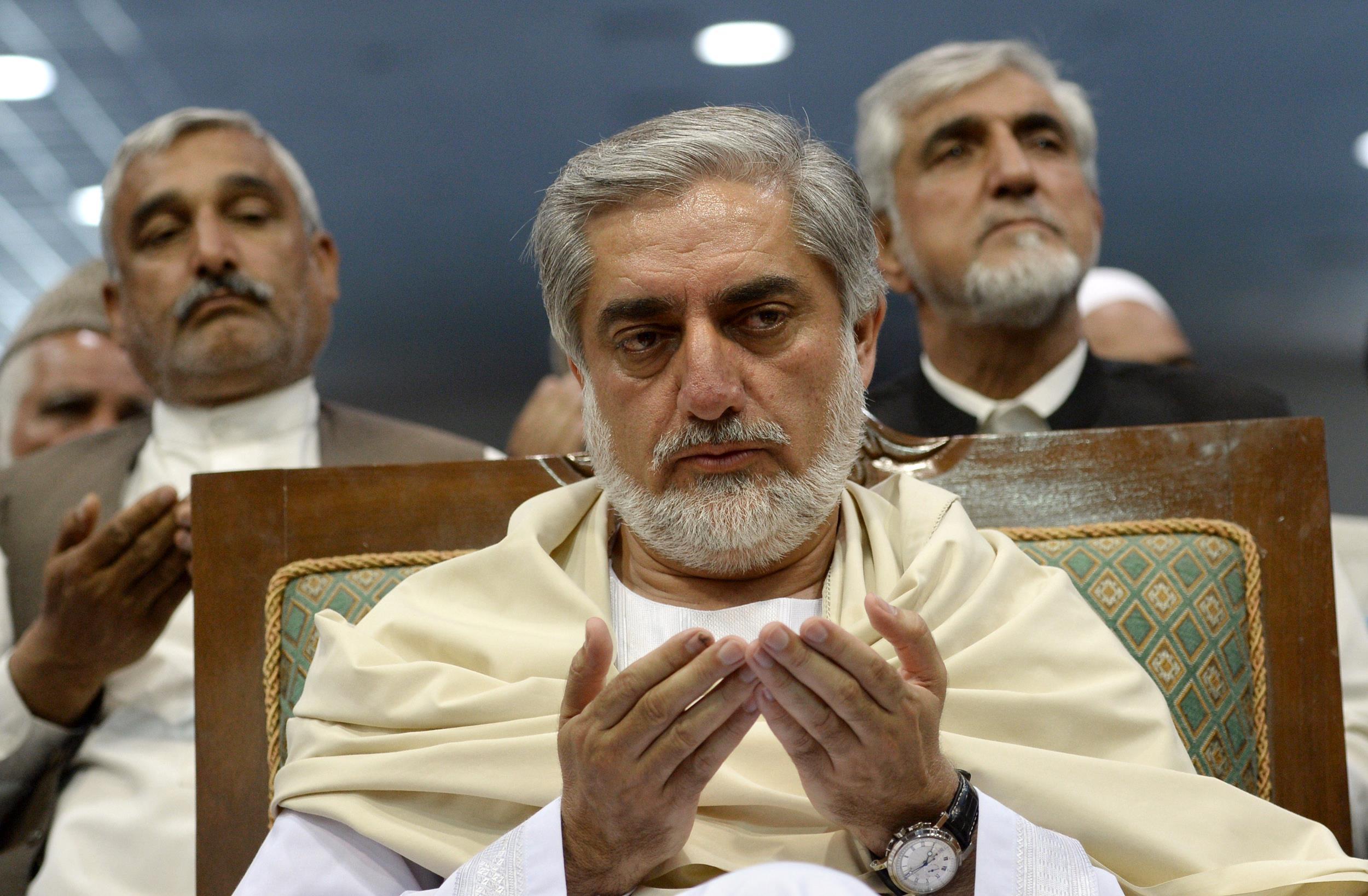 Image: Afghan presidential candidate Abdullah Abdullah