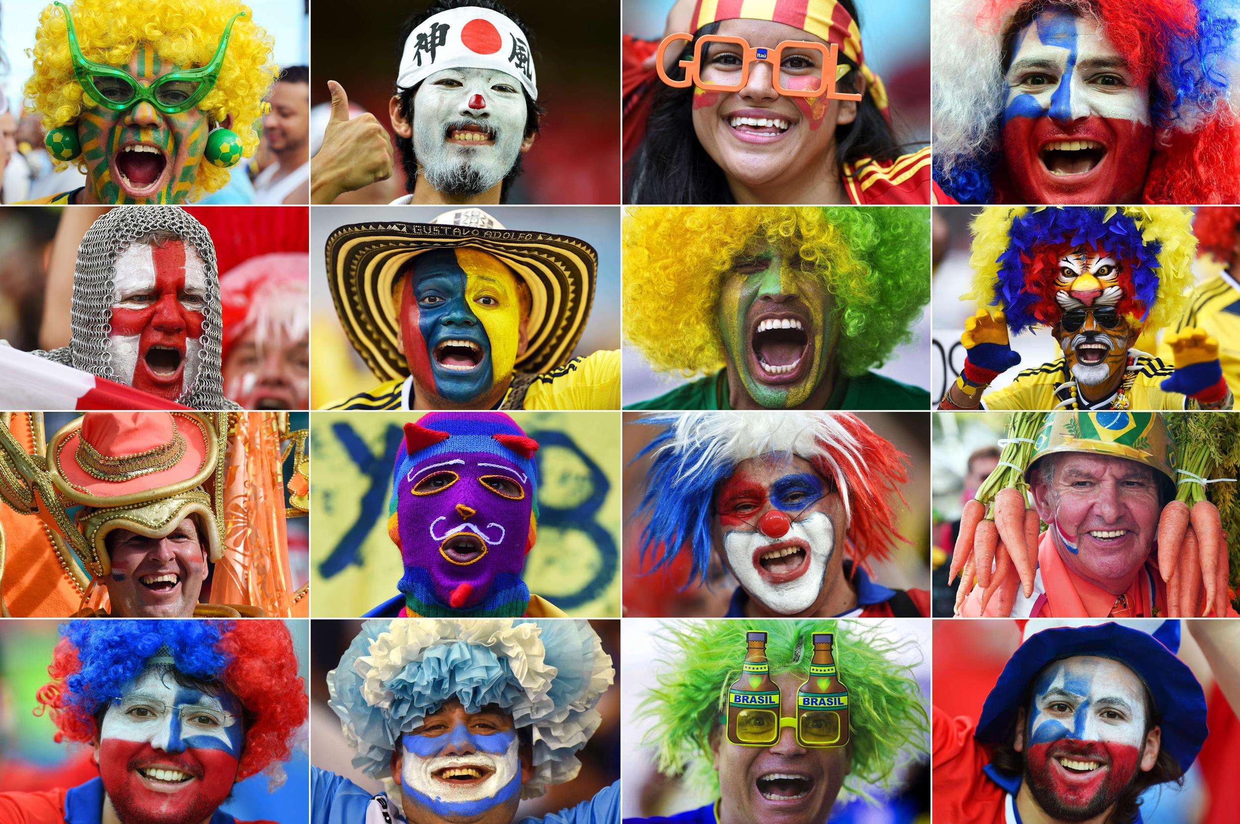 Image: Fans of various countries during the 2014 FIFA World Cup in Brazil.