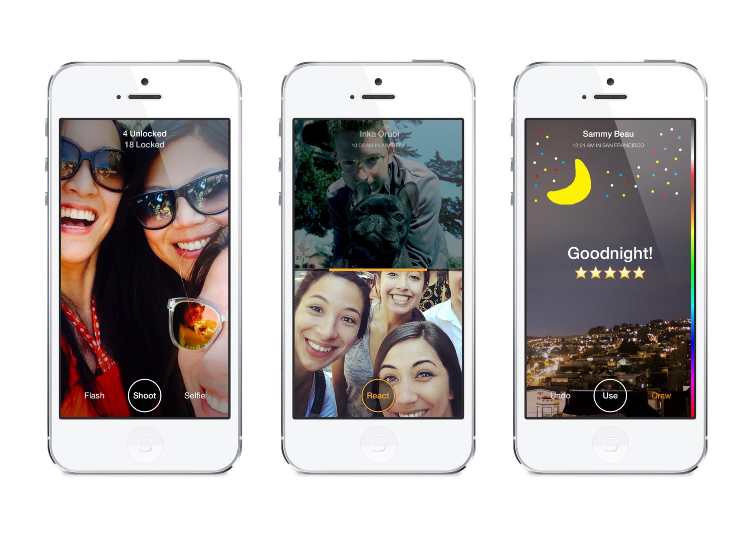 Image: Facebook's new Slingshot app.
