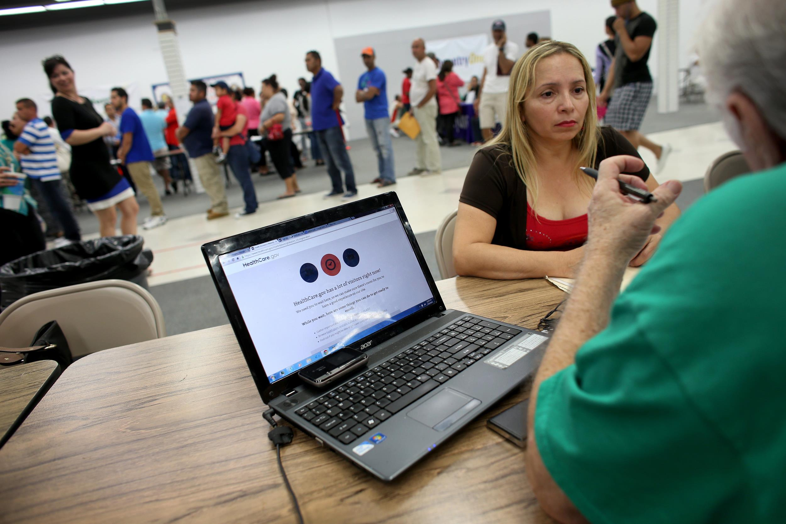 Image: Americans Register For Health Care On Final Day of ACA Enrollment Drive
