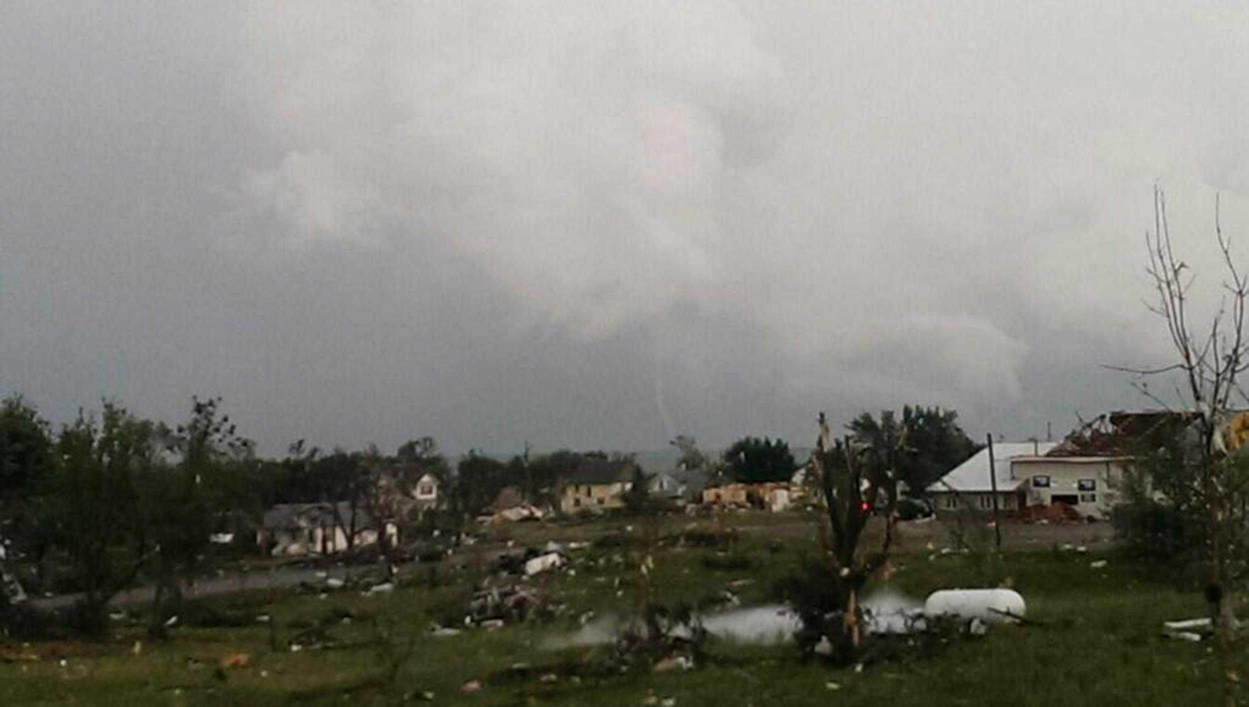 Image: Tornado damage in Wessington Springs, S.D.