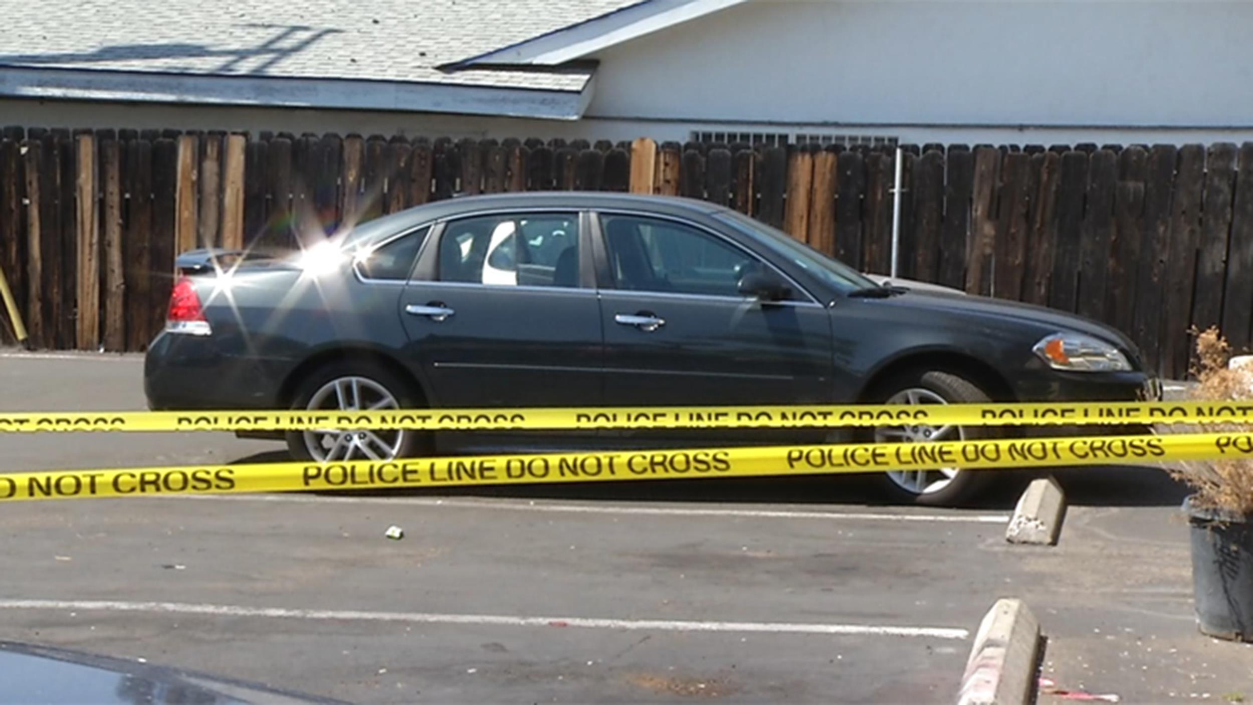 Image: The scene where parents Israel Soto, 30, and Jessica Quezada, 23, left their 4-month-old baby unattended in their car overnight at an apartment complex in San Diego's El Cajon area.