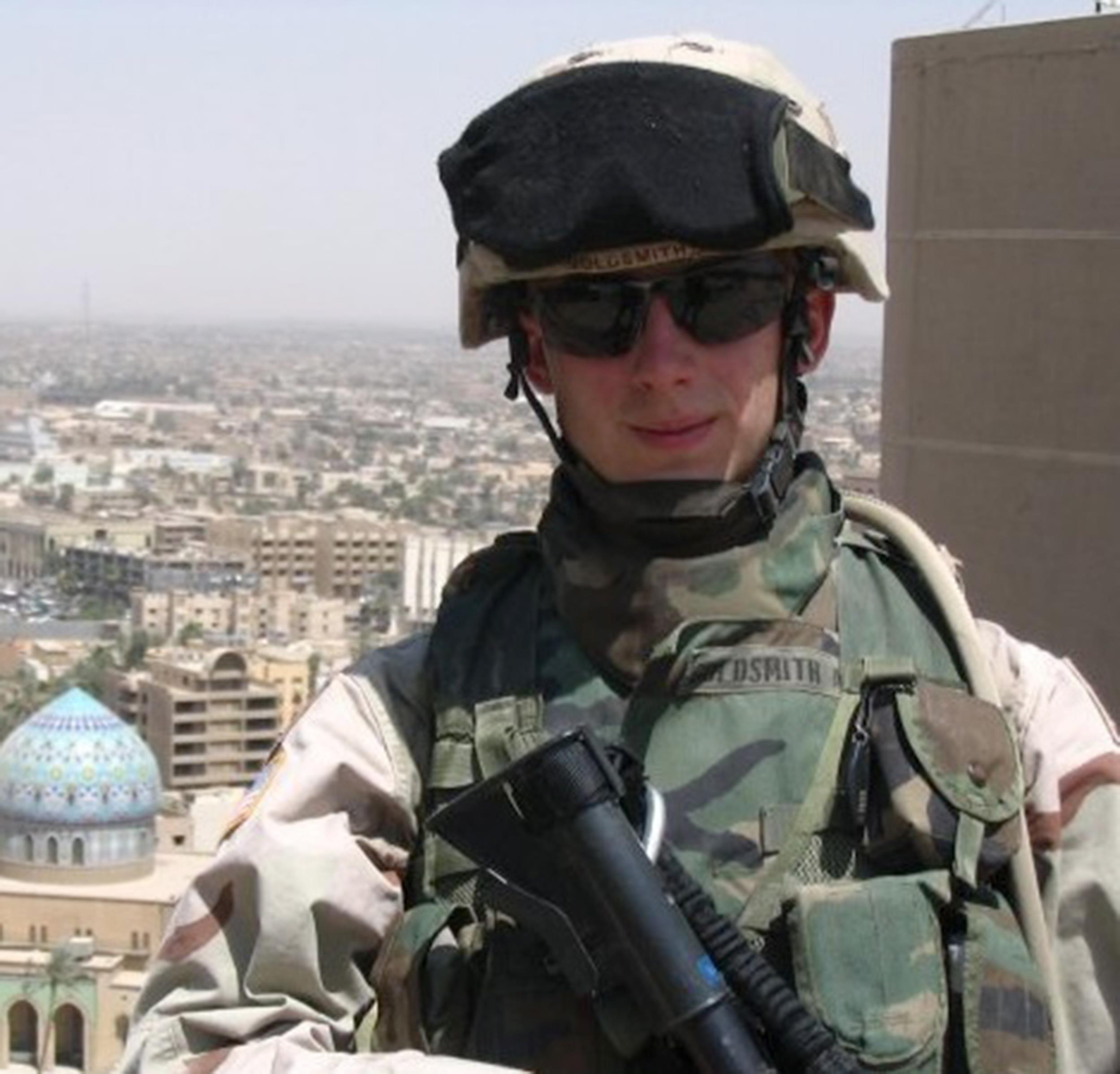 Image: Kris Goldsmith on duty in Baghdad