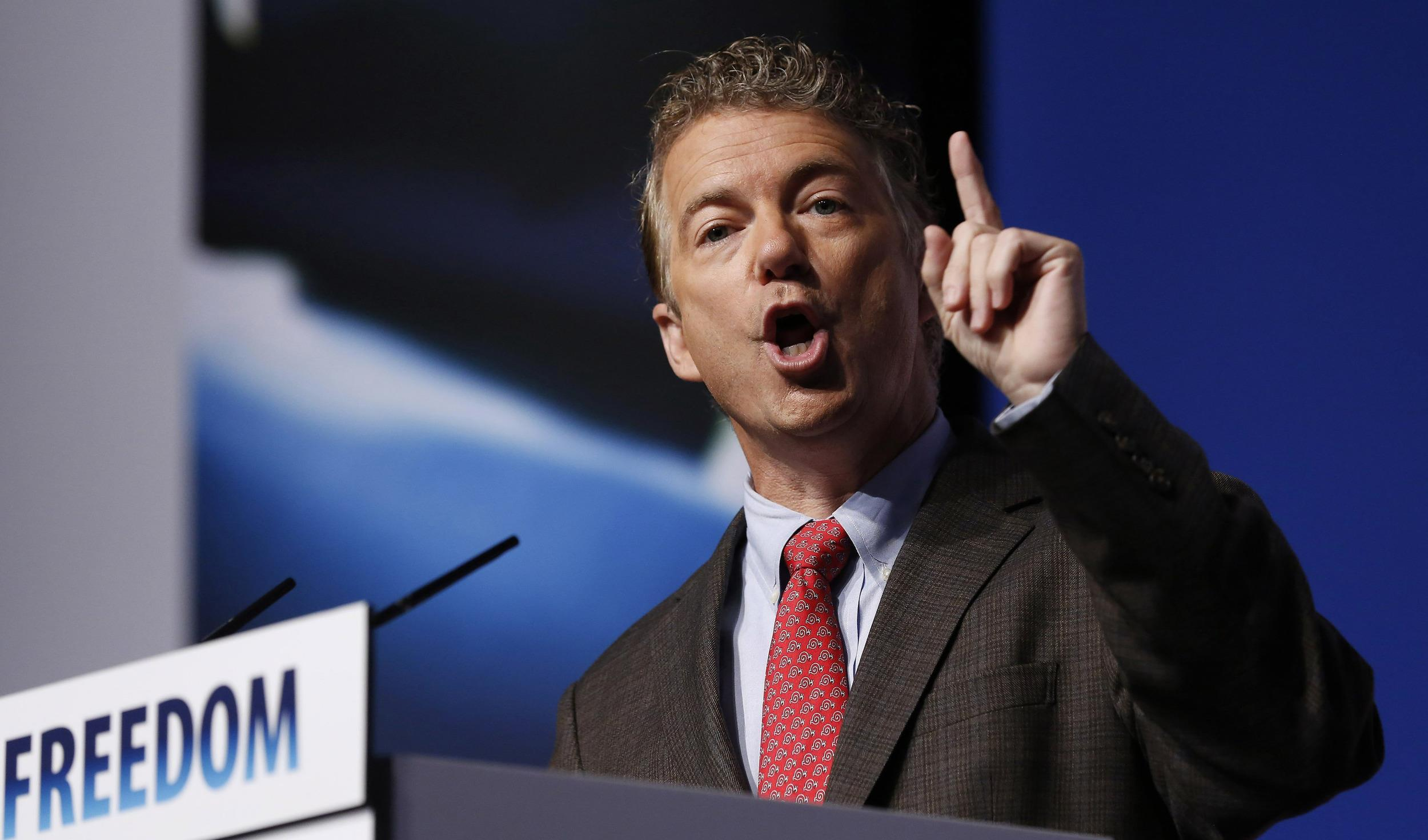 Image: U.S. Sen. Rand Paul speaks during the second day of the 5th annual Faith & Freedom Coalition's