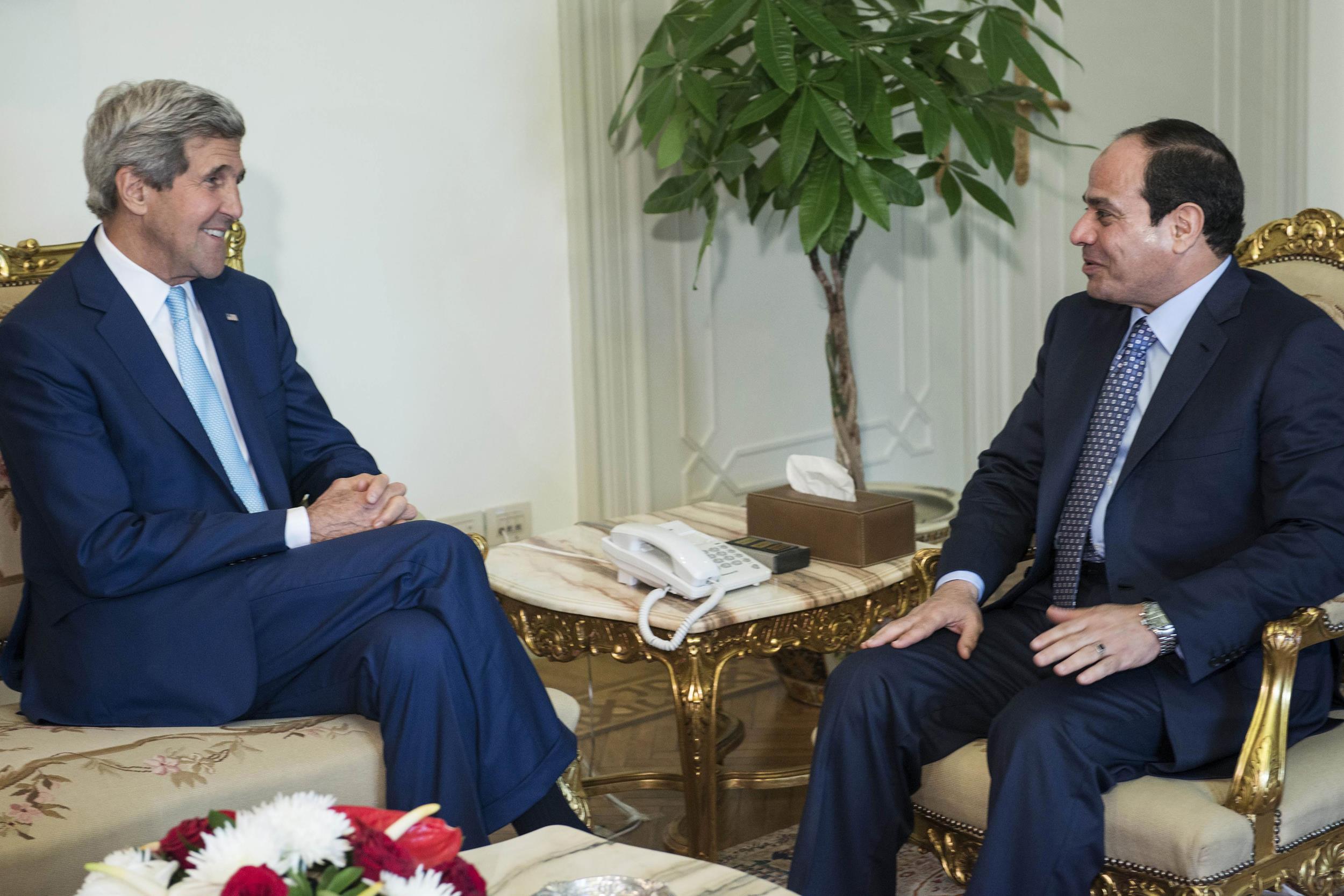 Image: John Kerry, Abdel Fattah el-Sissi