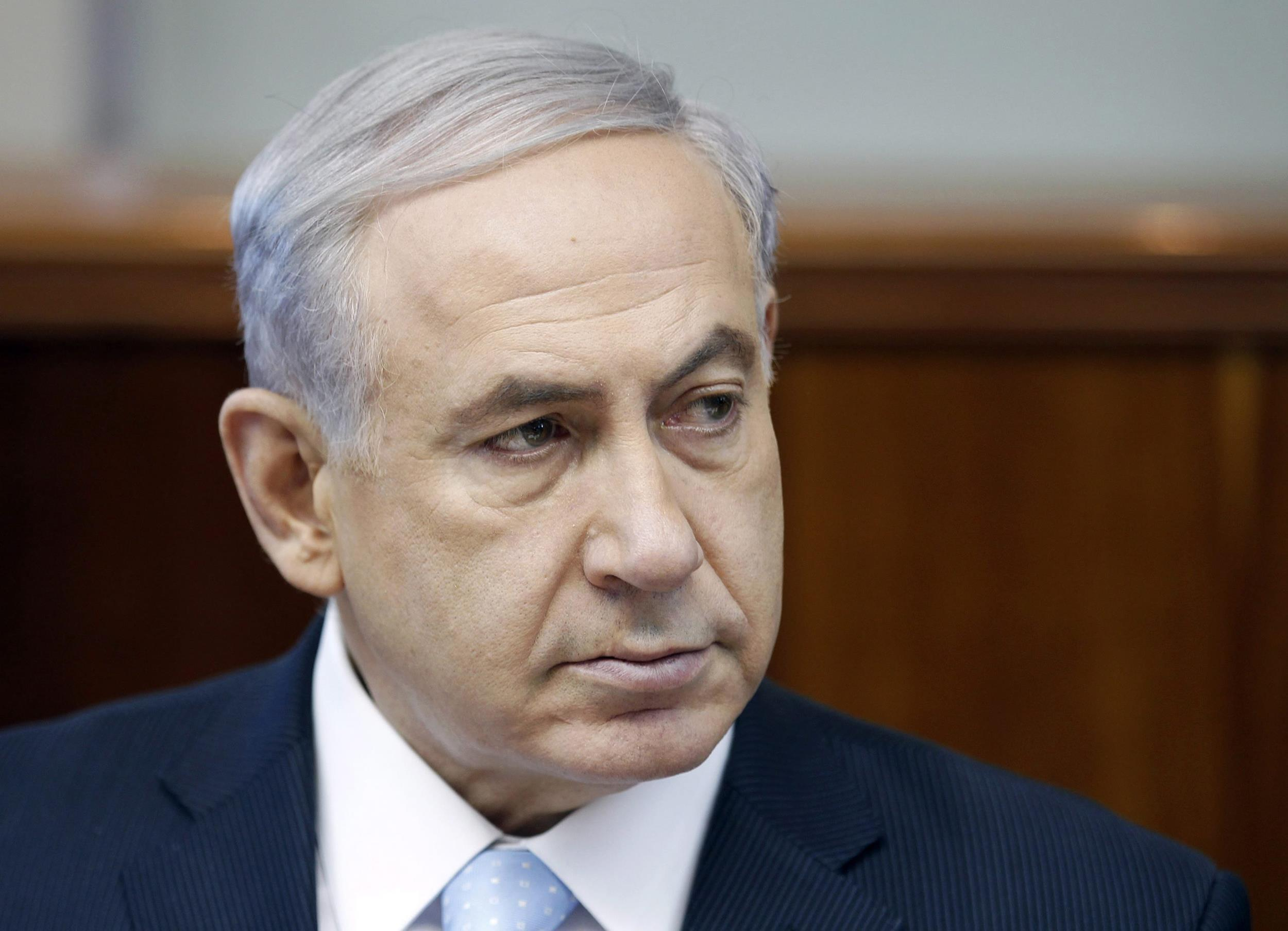 Image: Israel's Prime Minister Benjamin Netanyahu attends cabinet meeting in Jerusalem