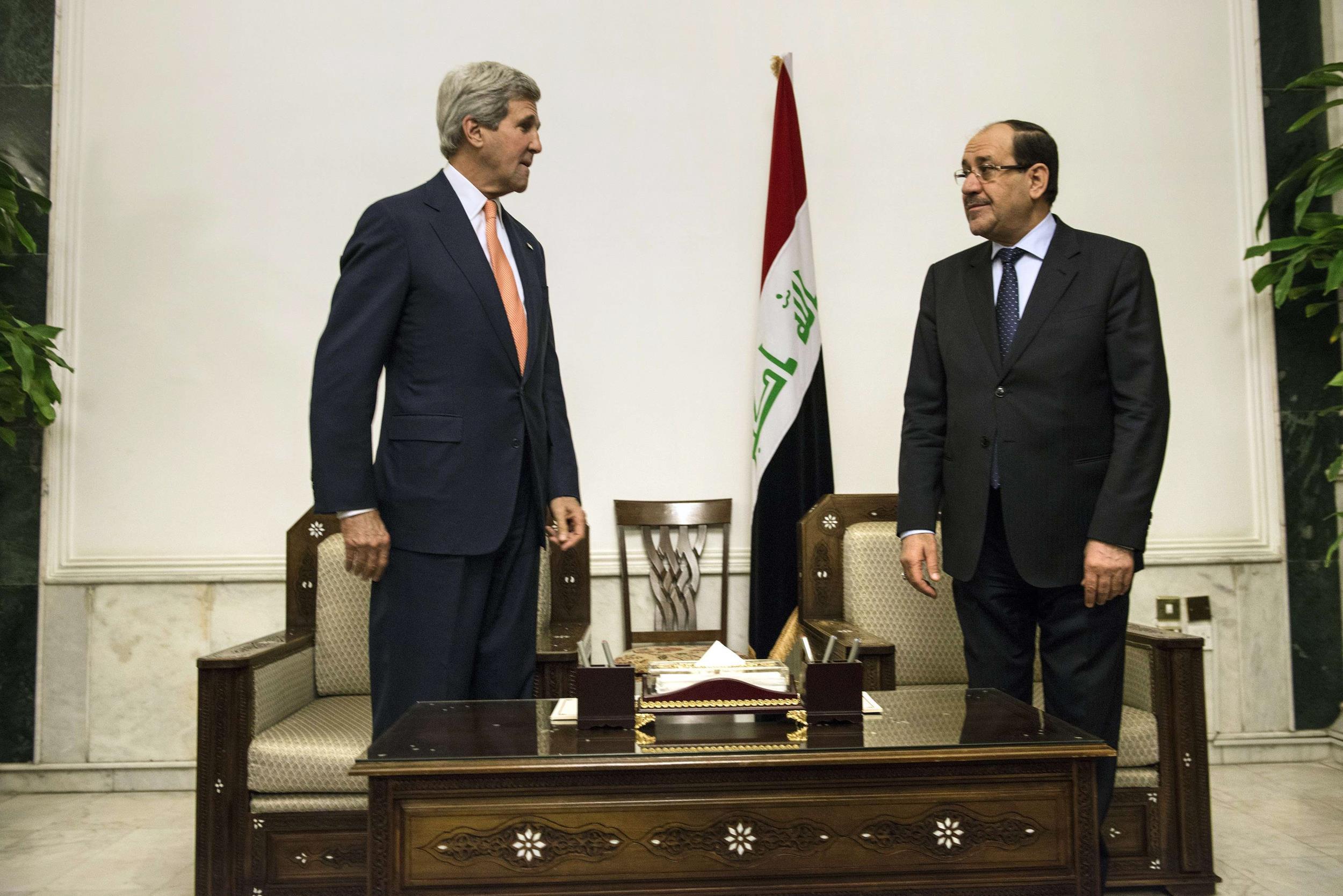 Image: John Kerry meet with Iraqi Prime Minister Nuri al-Maliki