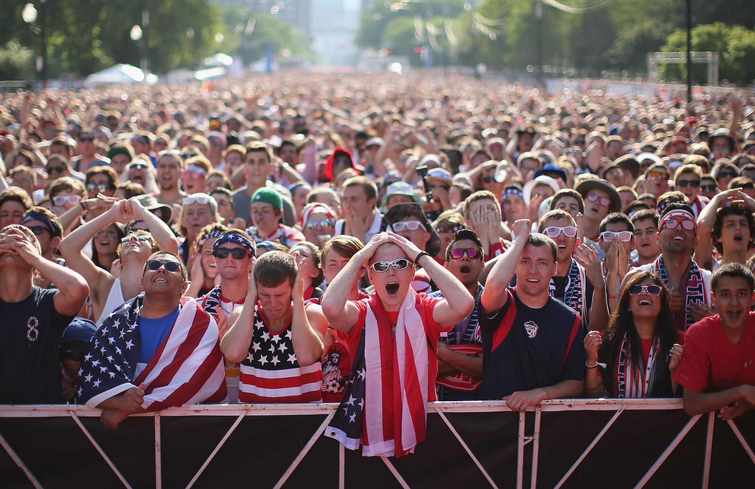Image: ***BESTPIX*** Soccer Fans Gather To Watch U.S. Play Portugal In World Cup Match
