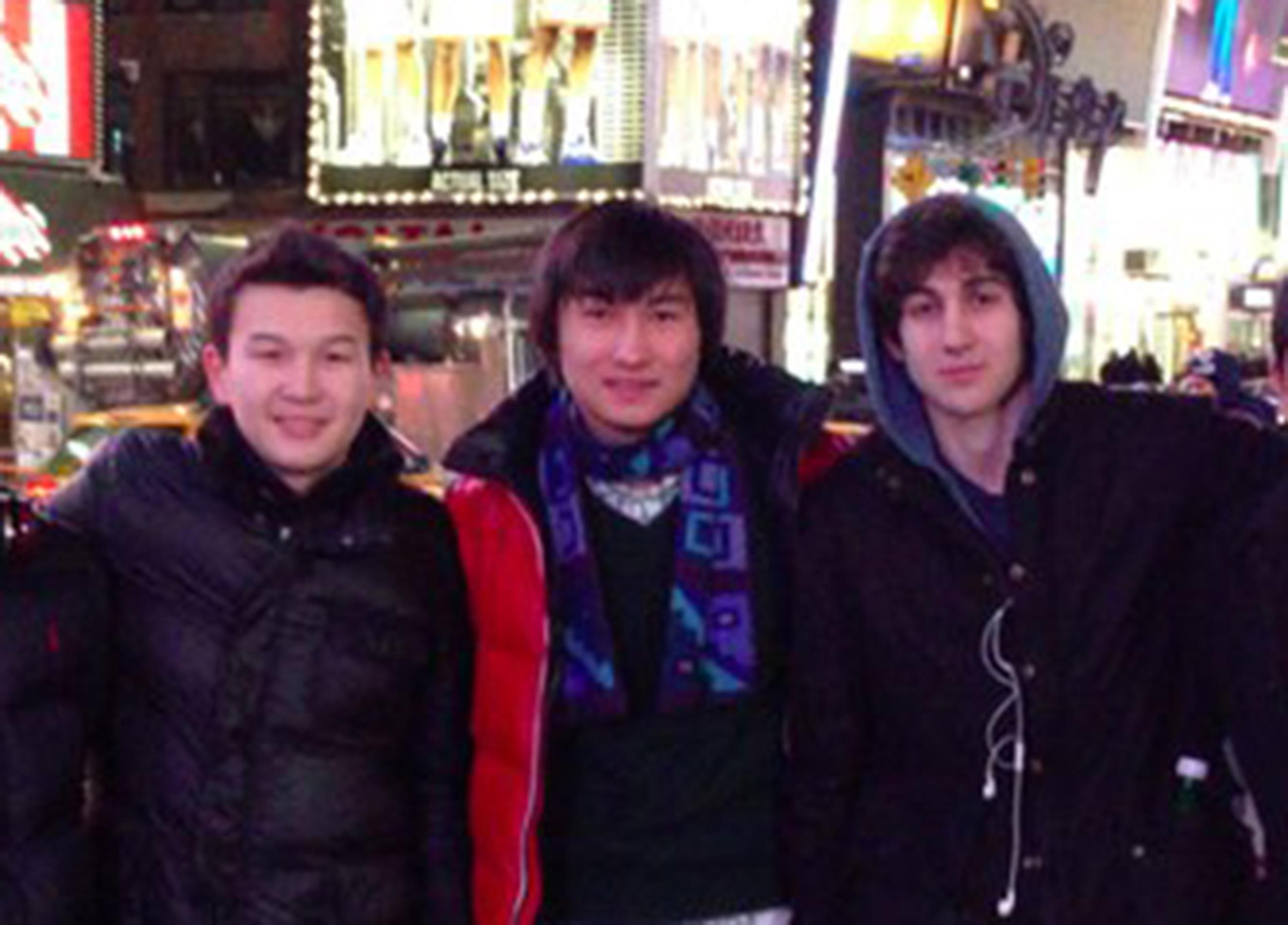 Image: Tsarnaev poses with Tazhayakov and Kadyrbayev in an undated photo taken in New York