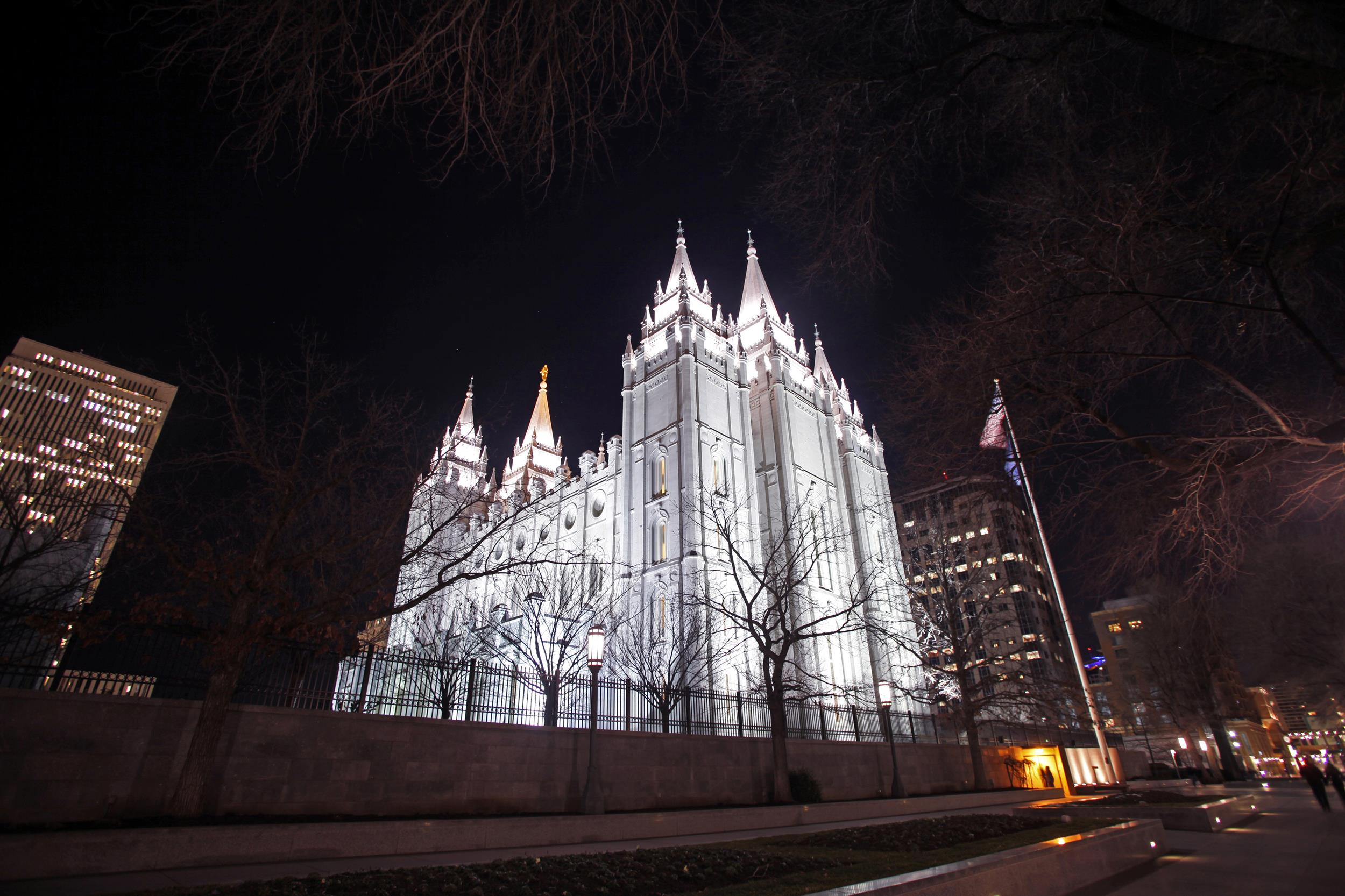 Image: The Mormon Temple in downtown Salt Lake City