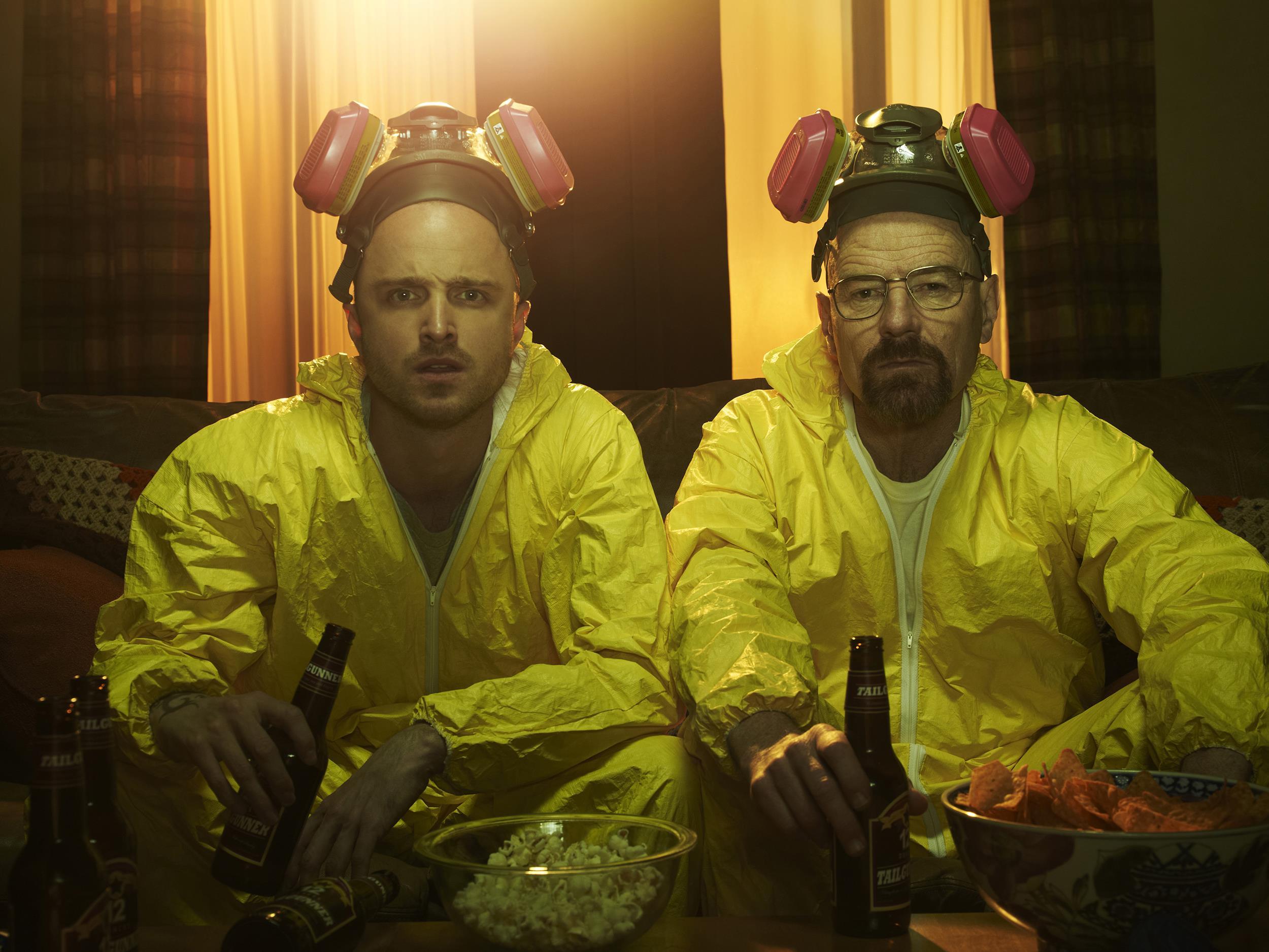 Image: Jesse Pinkman (Aaron Paul) and Walter White (Bryan Cranston) in Breaking Bad.