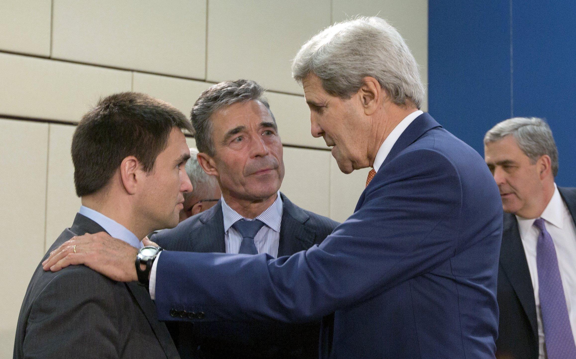 Image: Pavlo Klimkin, John Kerry, Anders Fogh Rasmussen