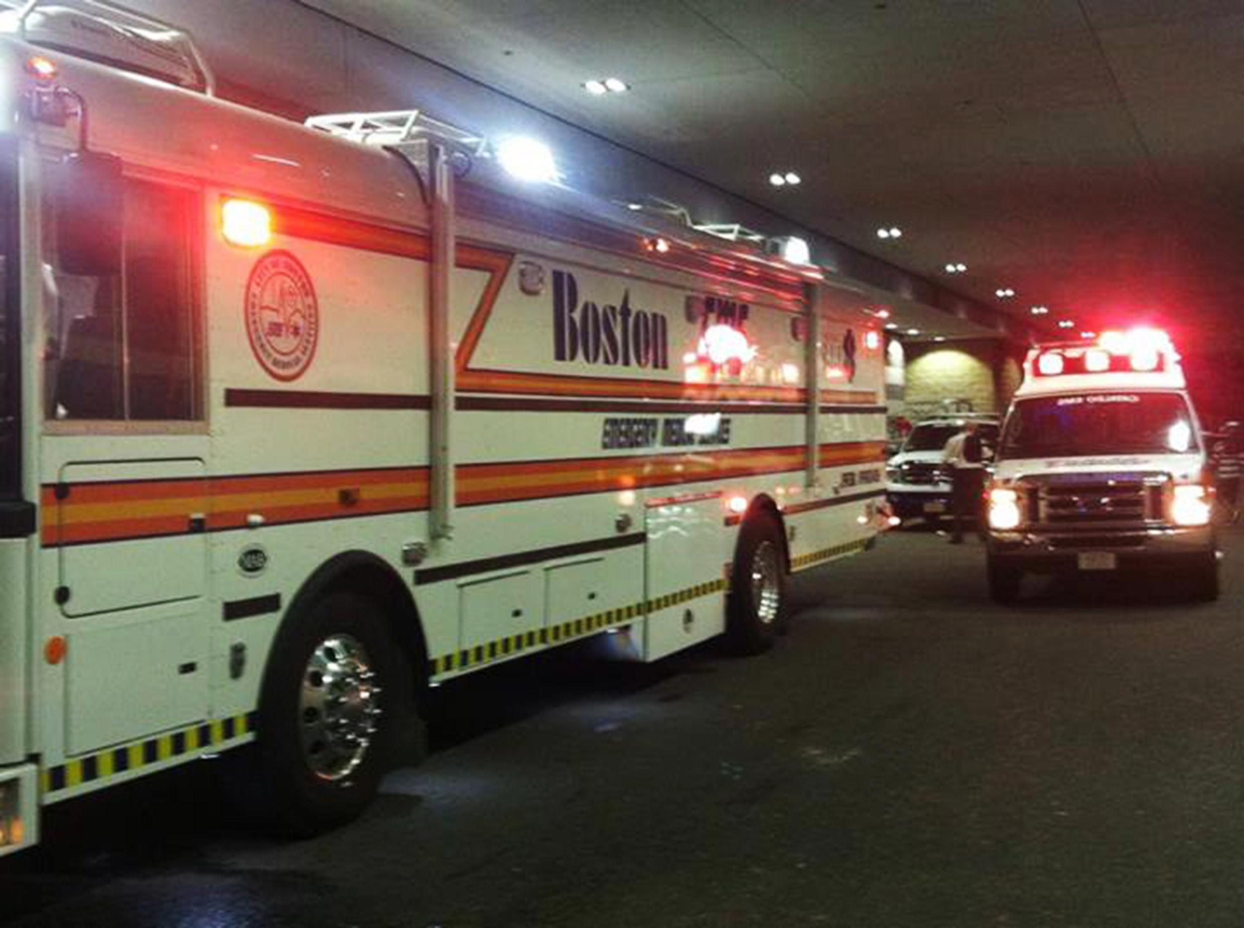 Image: Medical personell responded to incidents at Boston's TD Garden during an Avicii concert