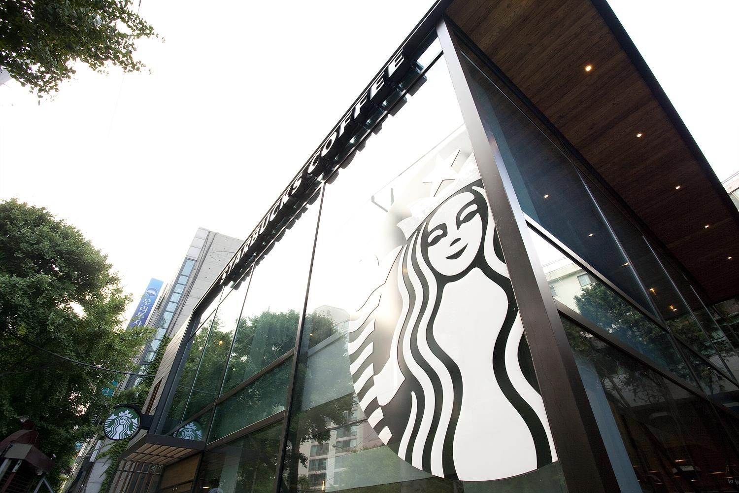 Starbucks in Dongbu Ichondong, Seoul, South Korea.