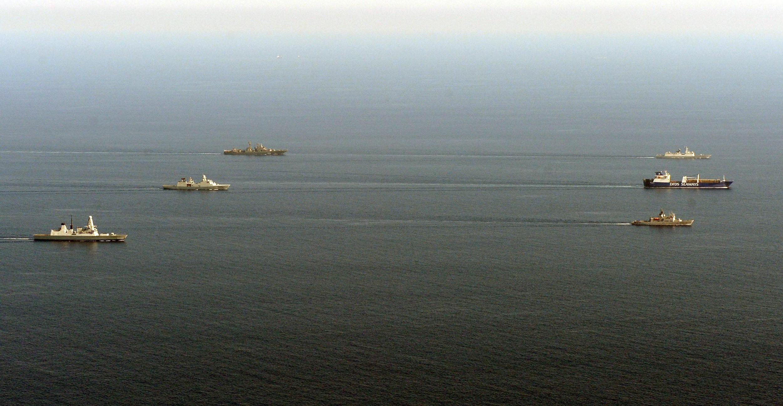 Image: Danish merchant vessel transporting the chemicals from Syria