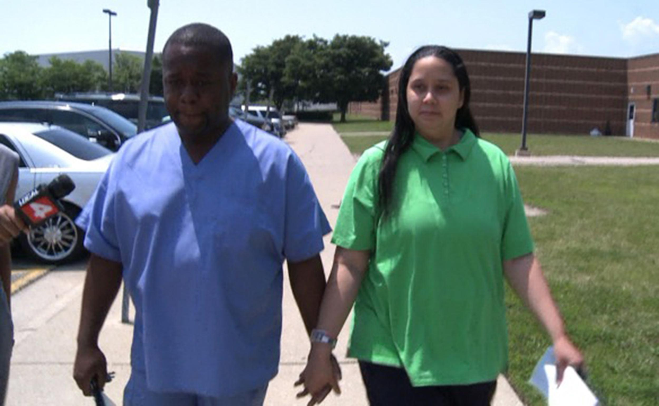 Image: Charles Bothuell and Monique Dillard-Bothuell leaving William Dickerson Detention Facility in Hamtramick