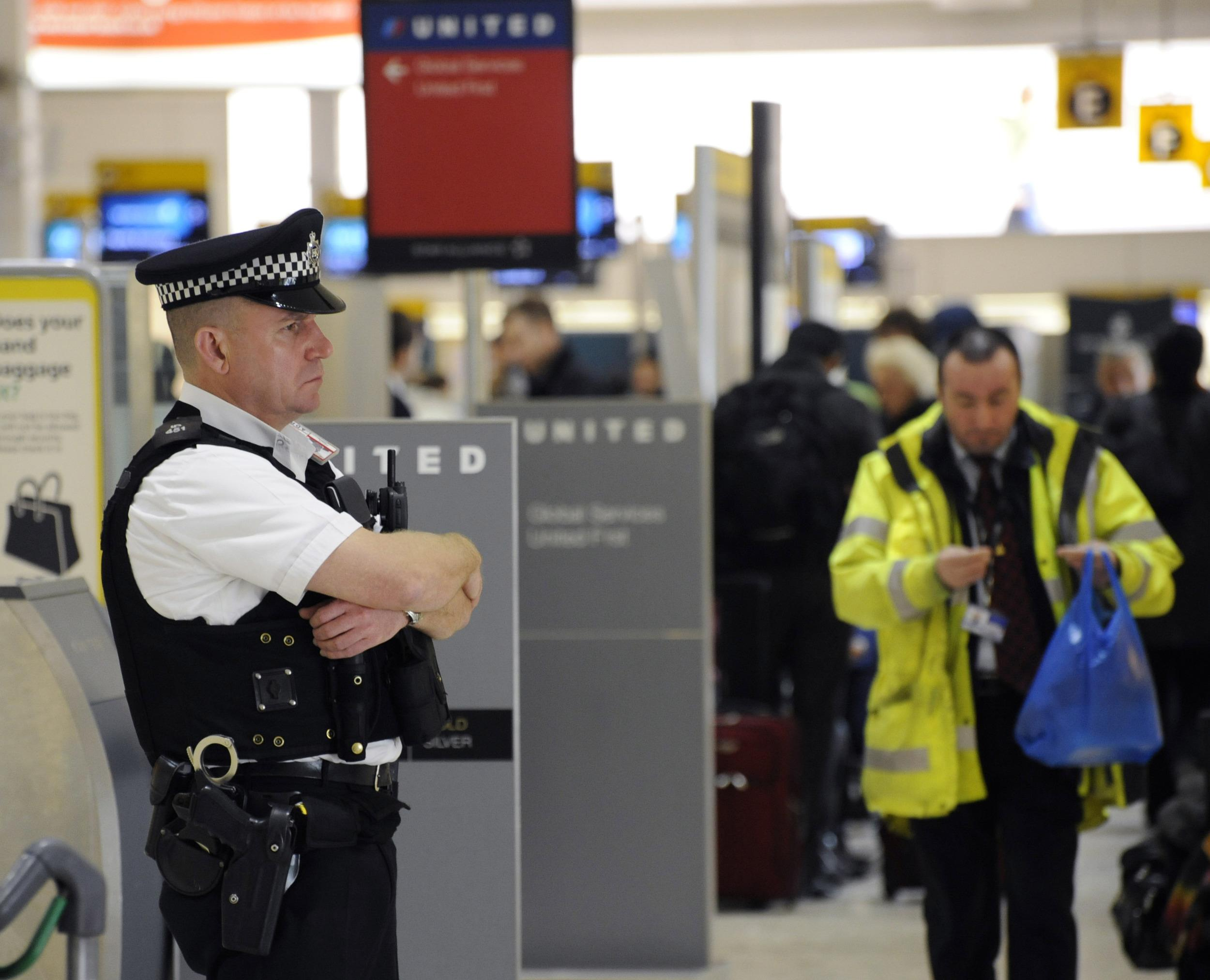 Image: Security at Heathrow
