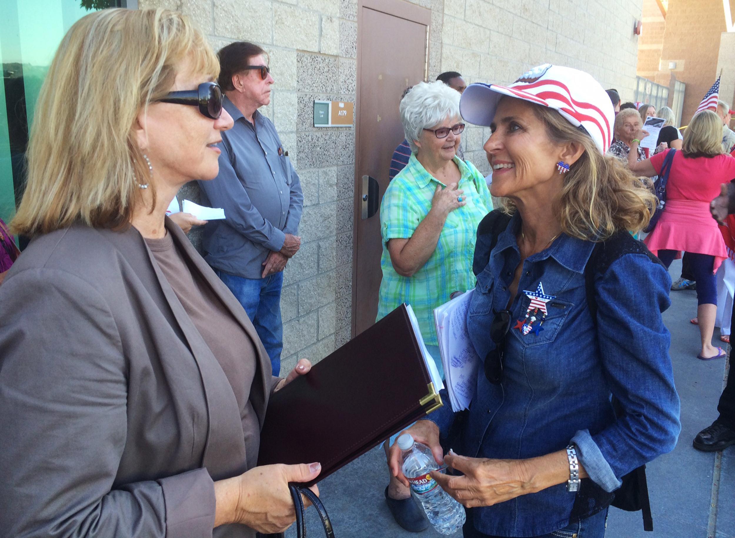 Murrieta protest organizier Patrice Lynes
