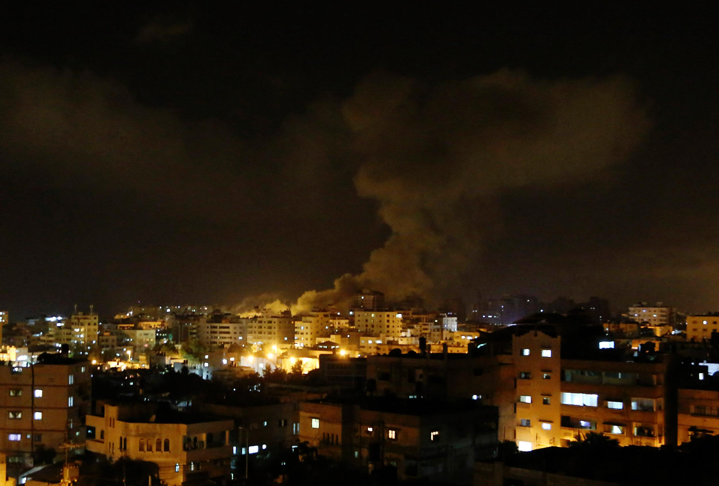 Image: Smoke rises after an Israeli missile strike hit Gaza City