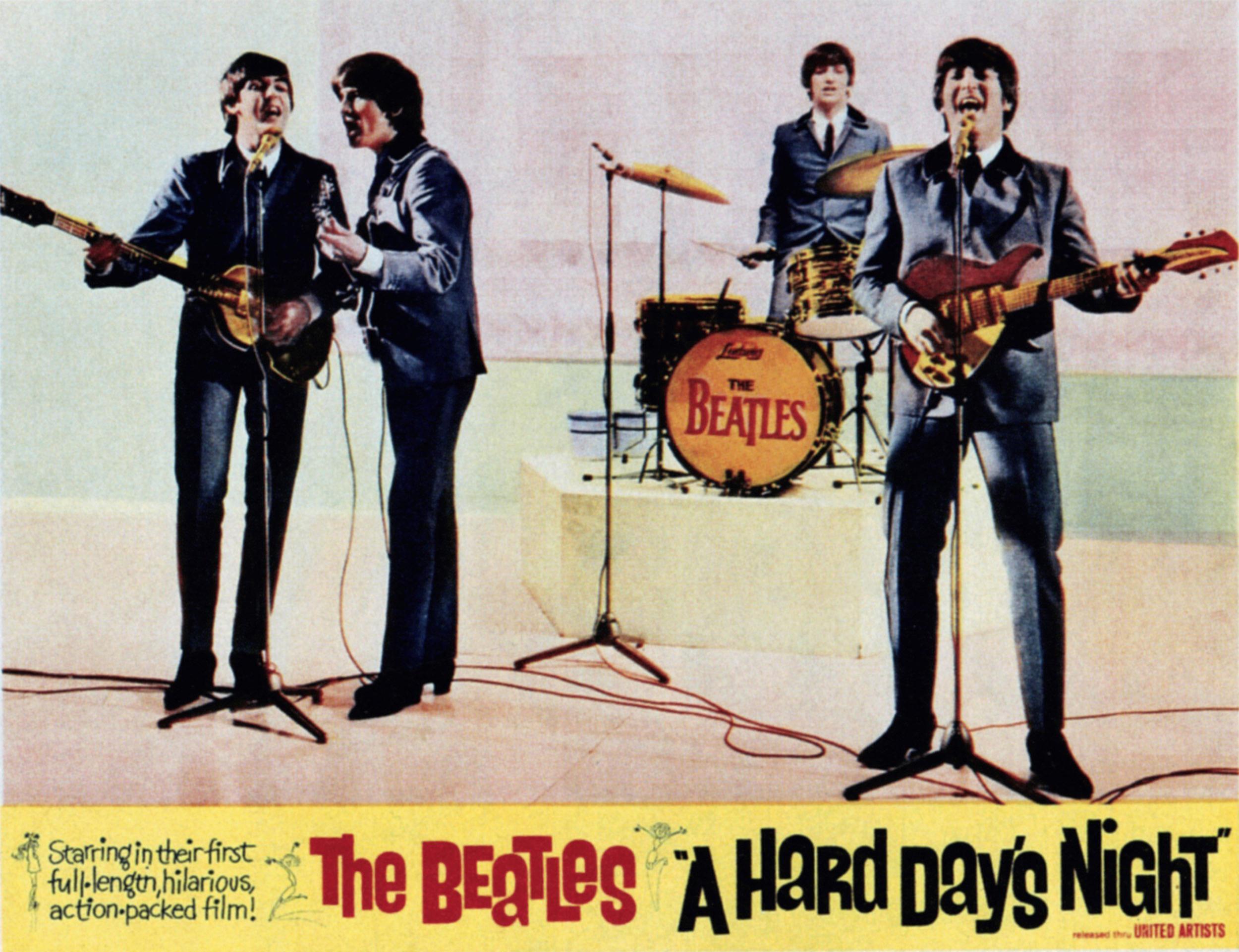 Image: A HARD DAY'S NIGHT, The Beatles from left: Paul McCartney, George Harrison, Ringo Starr, John Lennon