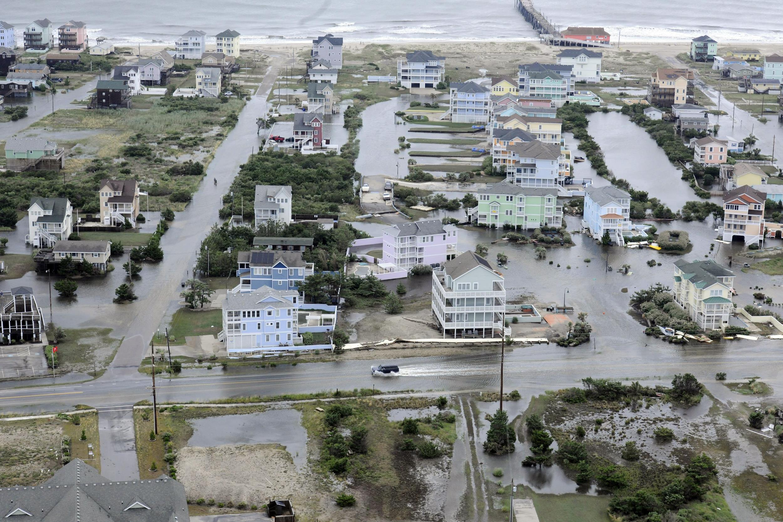 Image: Hurricane Arthur aftermath and damage