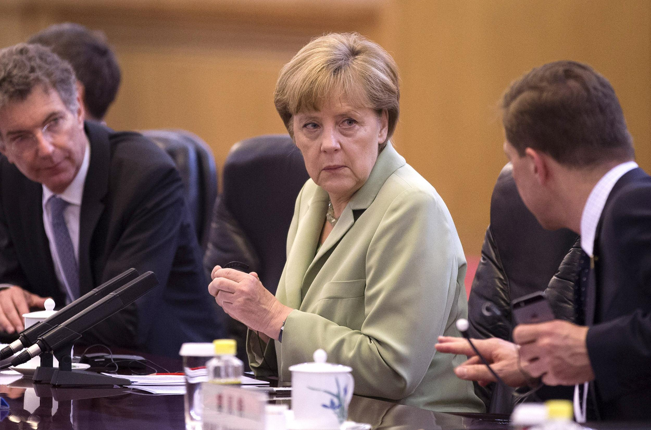 Image: German Chancellor Angela Merkel Visits China