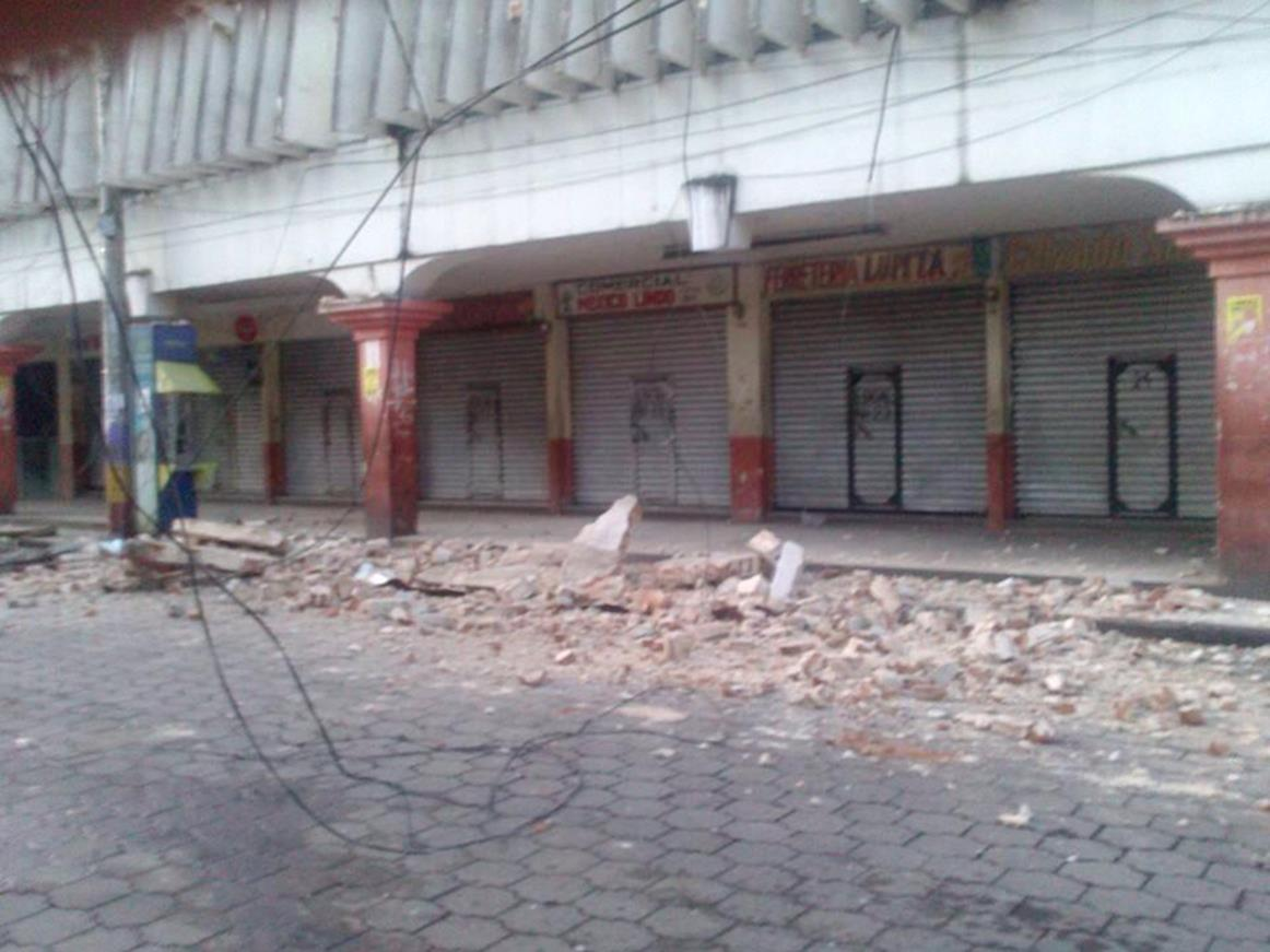 Image: Earthquake damage in San Pedro, San Marcos on July 7, 2014.