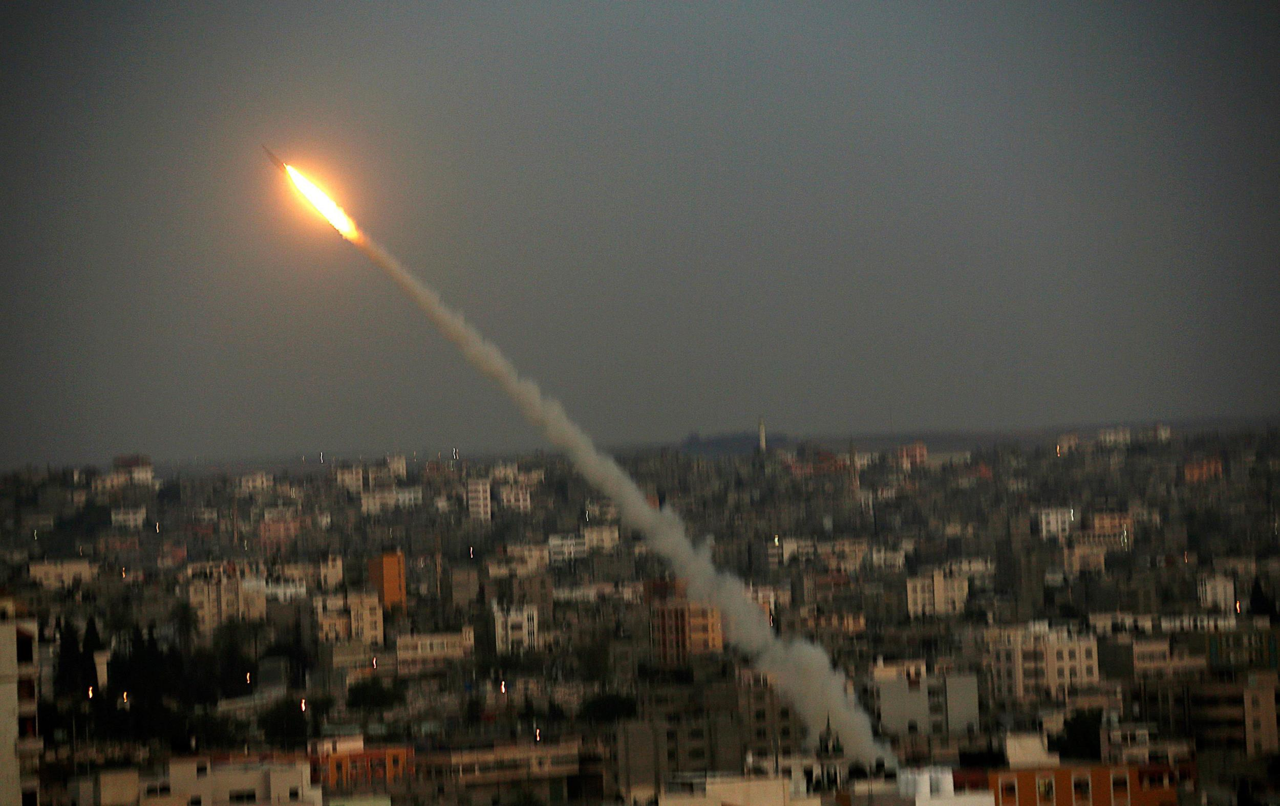 Image: M75 rocket launched from Gaza strip into Israel