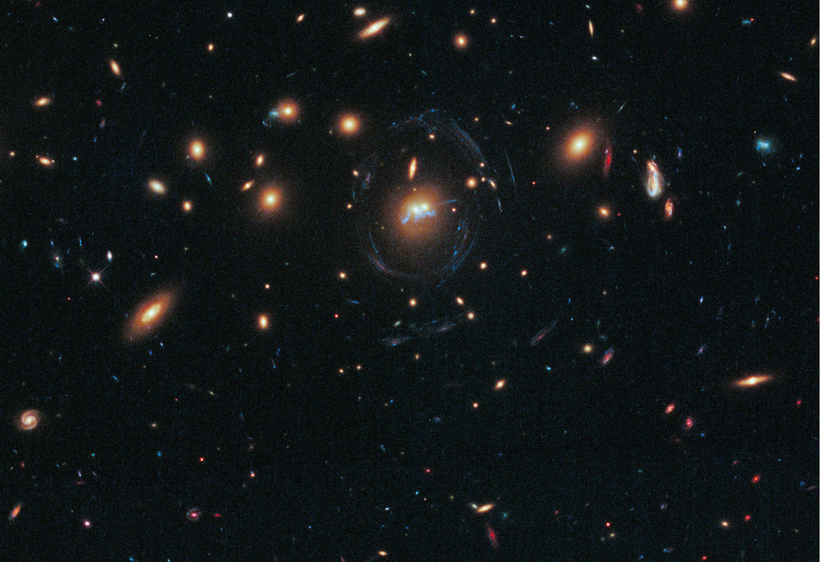 Image: Merging galaxy clusters