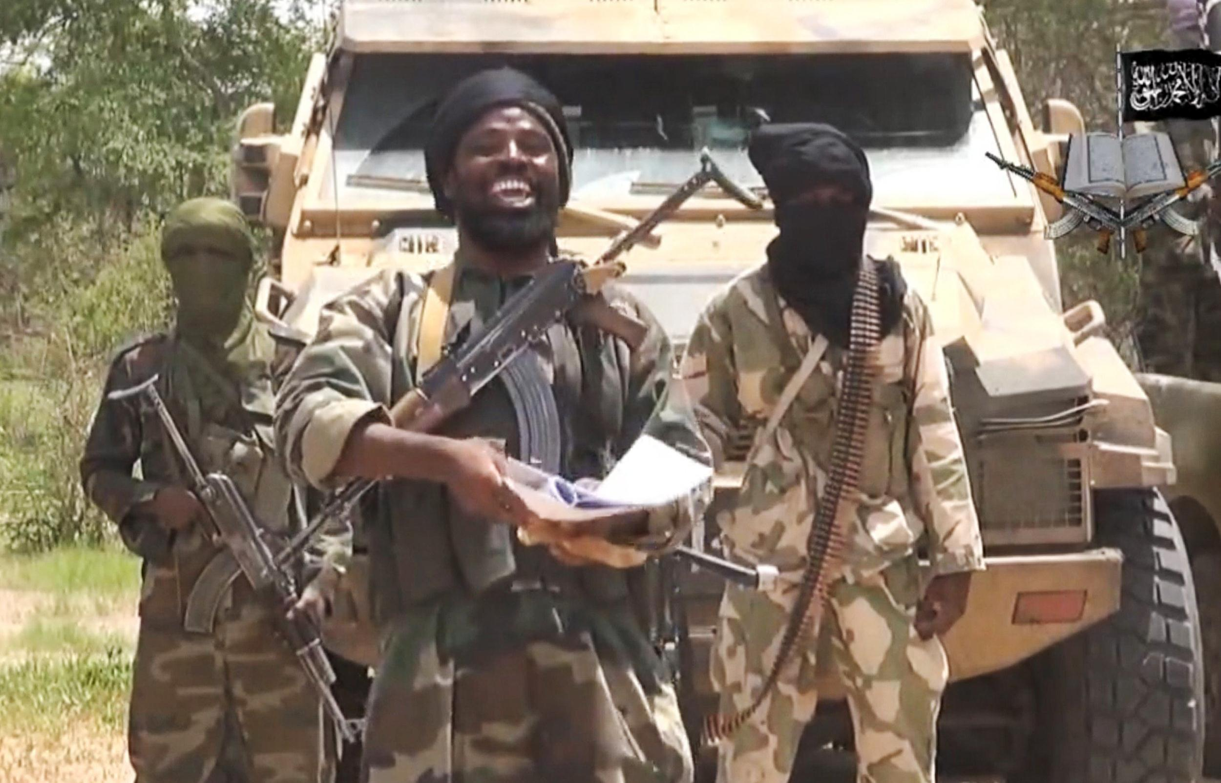 Image: Leader of the Nigerian Islamist extremist group Boko Haram, Abubakar Shekau
