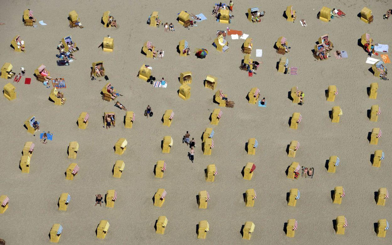 German beachgoers