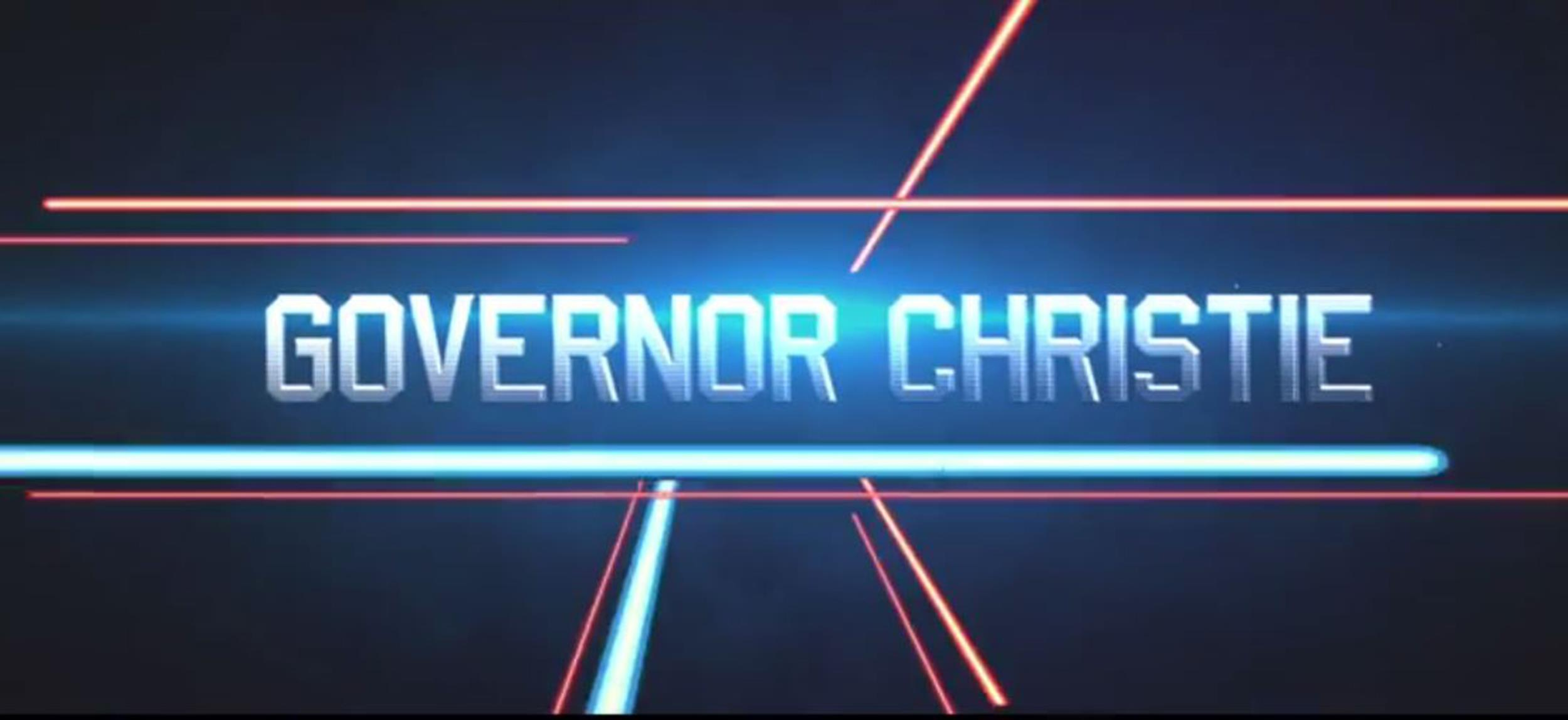 Image: Gov. Chris Christie released a trailer Tuesday for a fake summer blockbuster movie titled,