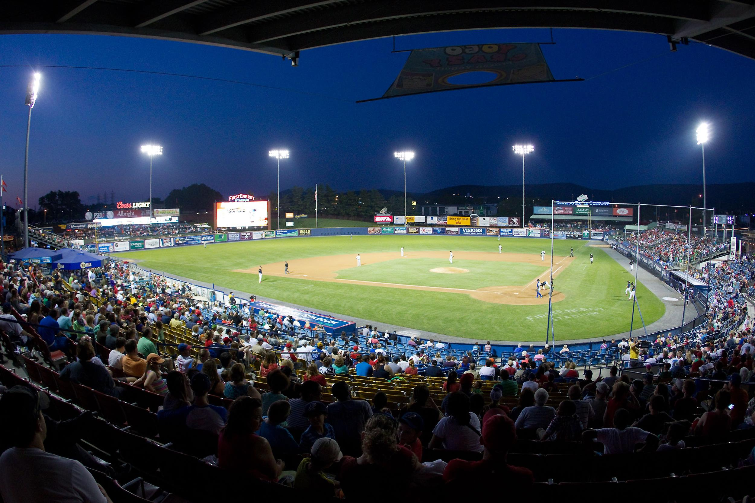 The Akron Rubber Ducks and the Reading Fightin Phils