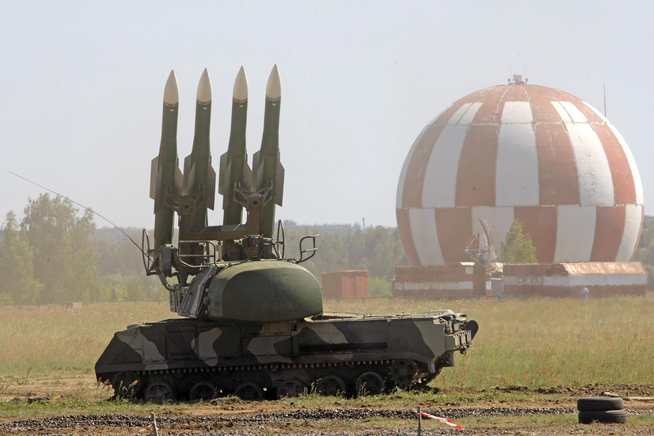 Image: A Russian Buk-M2 air defense system