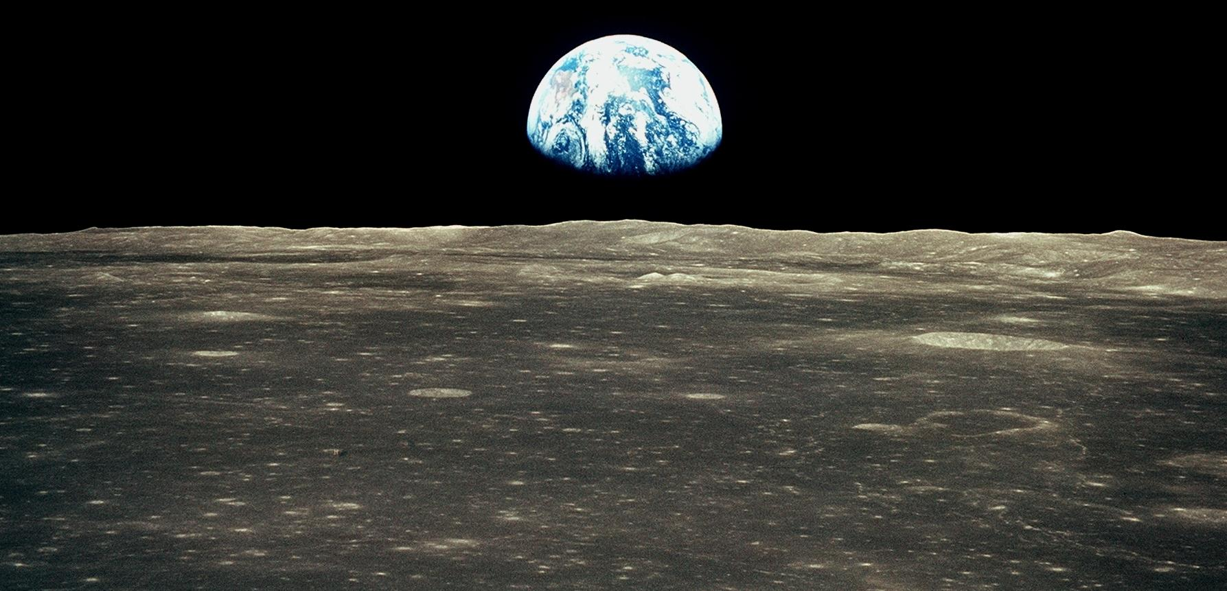 earthrise from moon apollo - photo #26