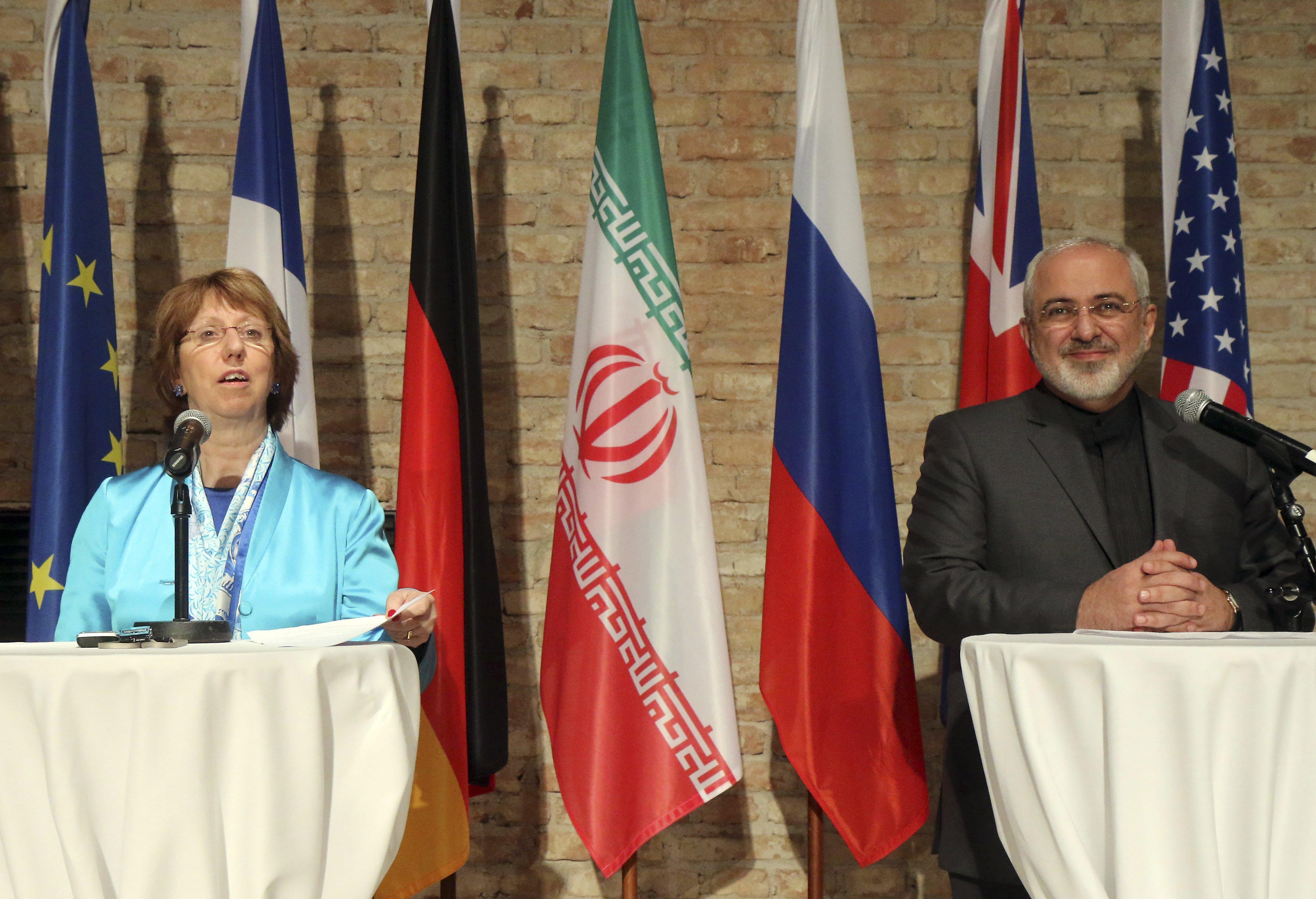 Image: Catherine Ashton, Mohammad Javad Zarif