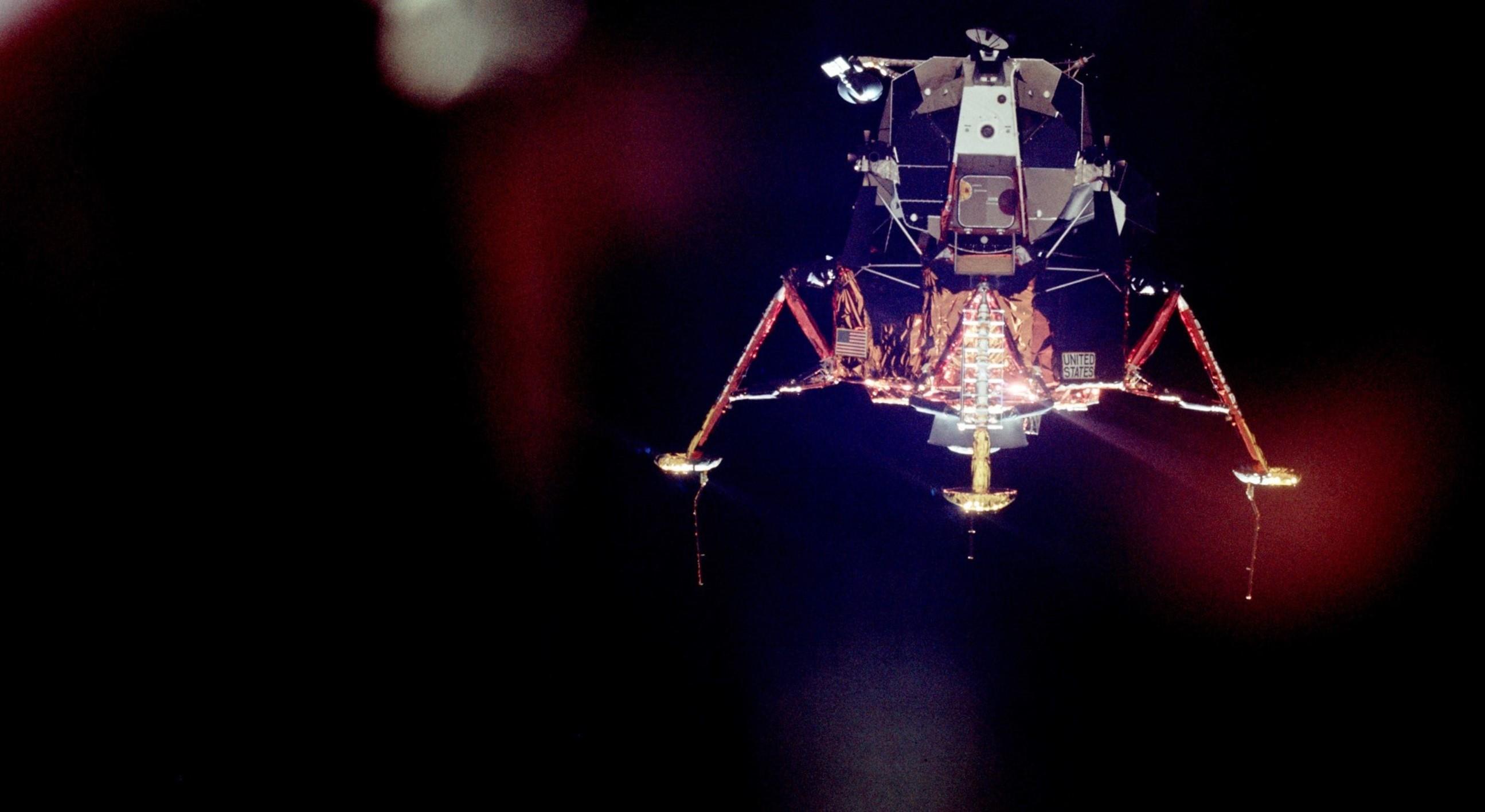 Image: Eagle in lunar orbit