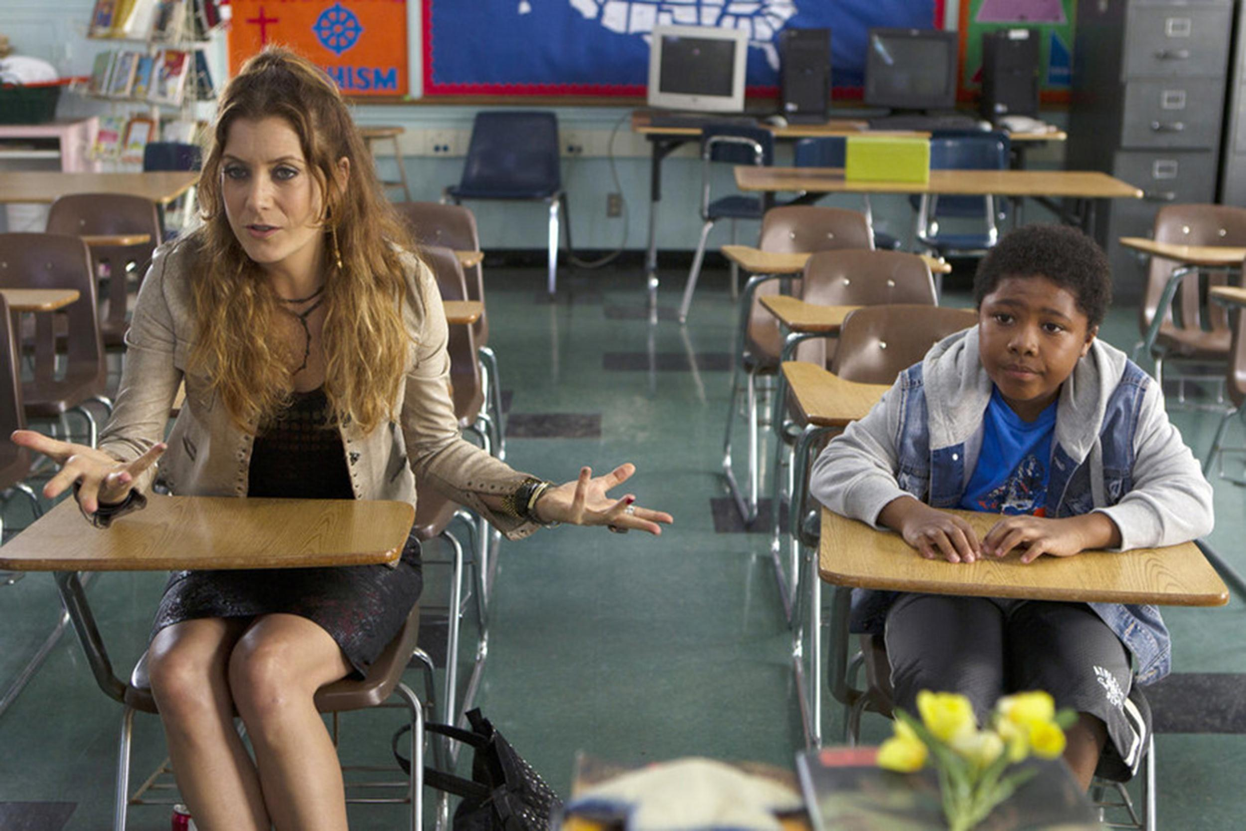 Image:  Kate Walsh as Rebecca, Theodore Barnes as Robby in 'Bad Judge'