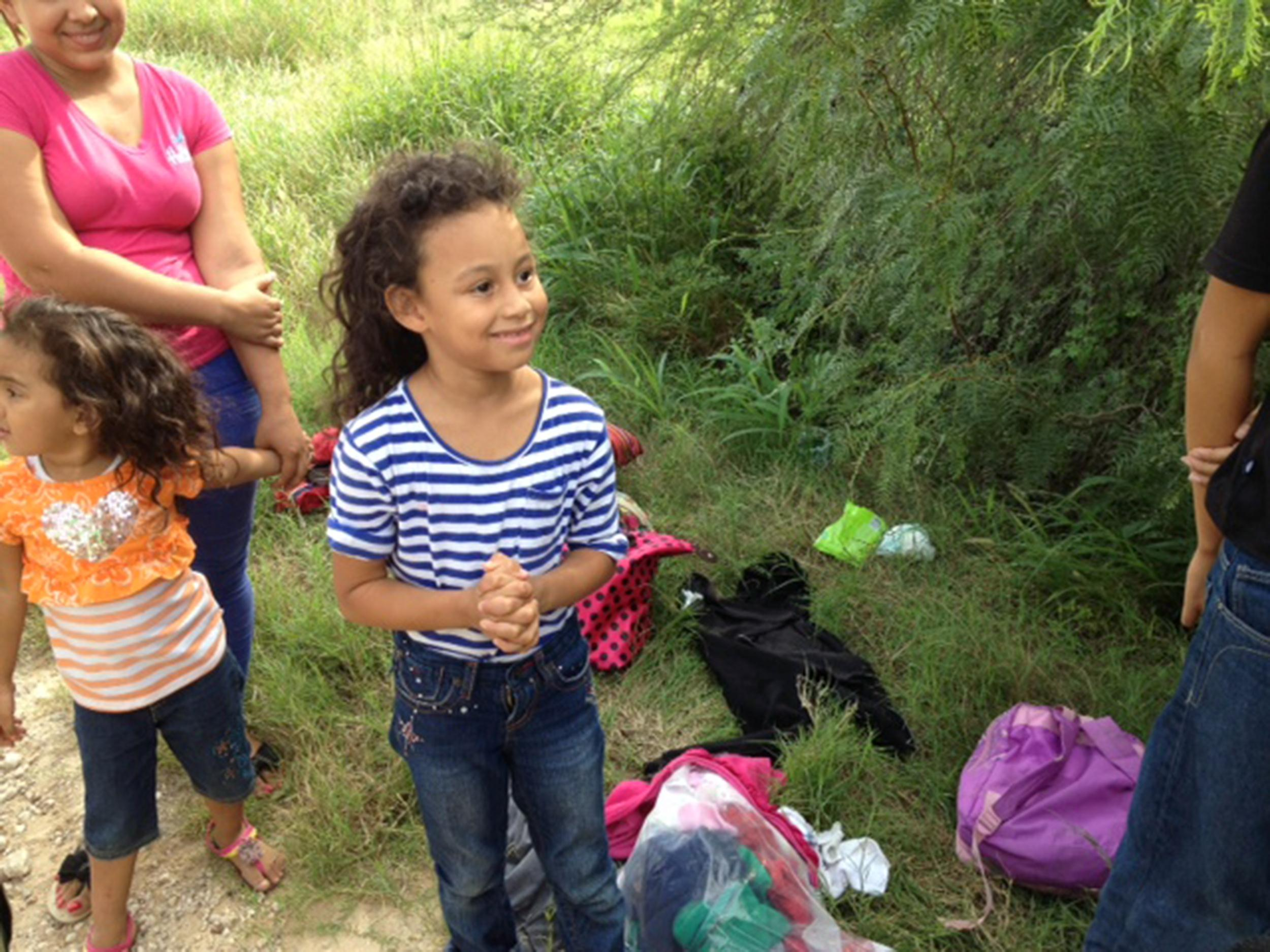 Image: Aimee was apprehended by Border Patrol on July 11, near Mission, Texas.