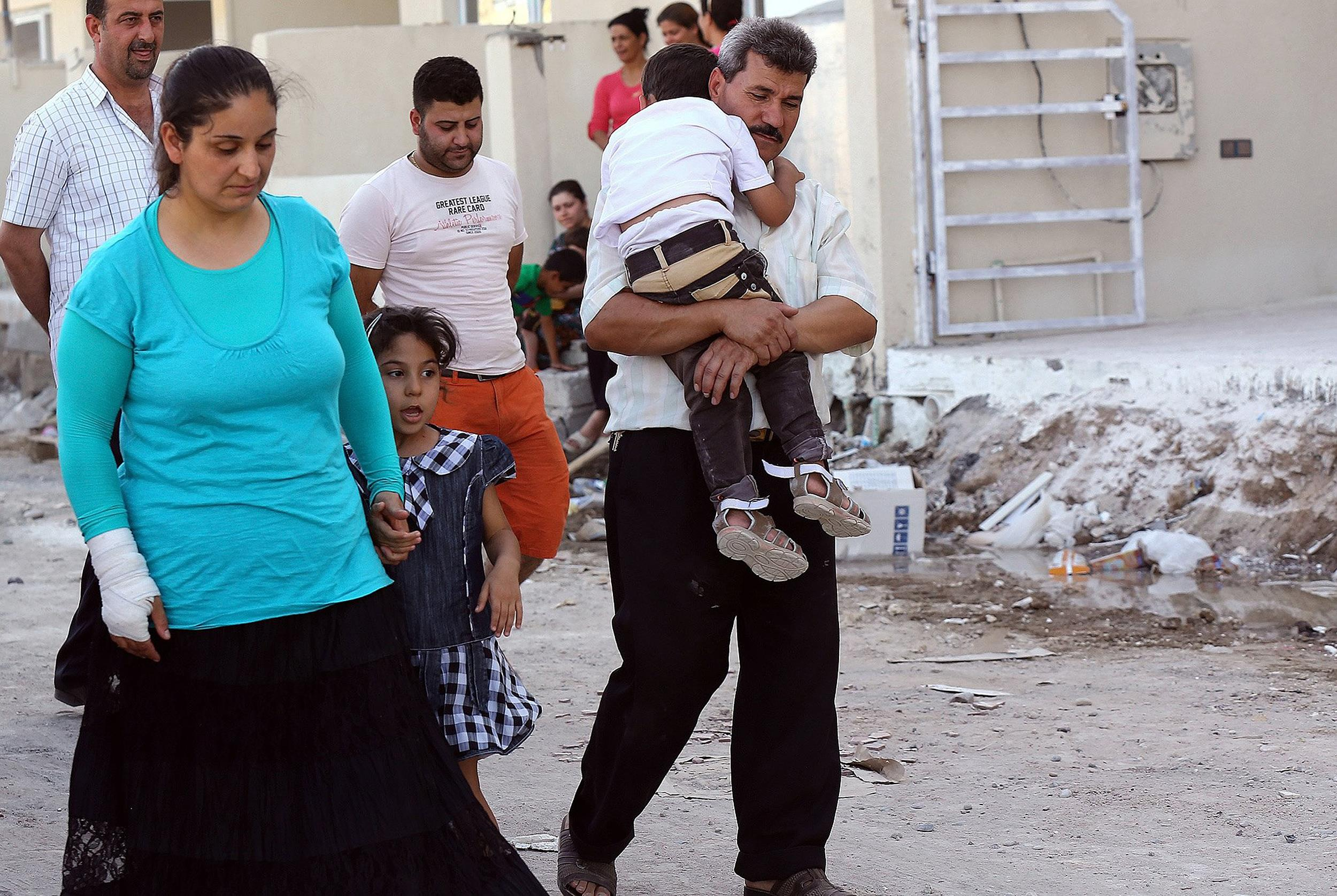 Image: Displaced Christians who fled the violence in Mosul, Iraq