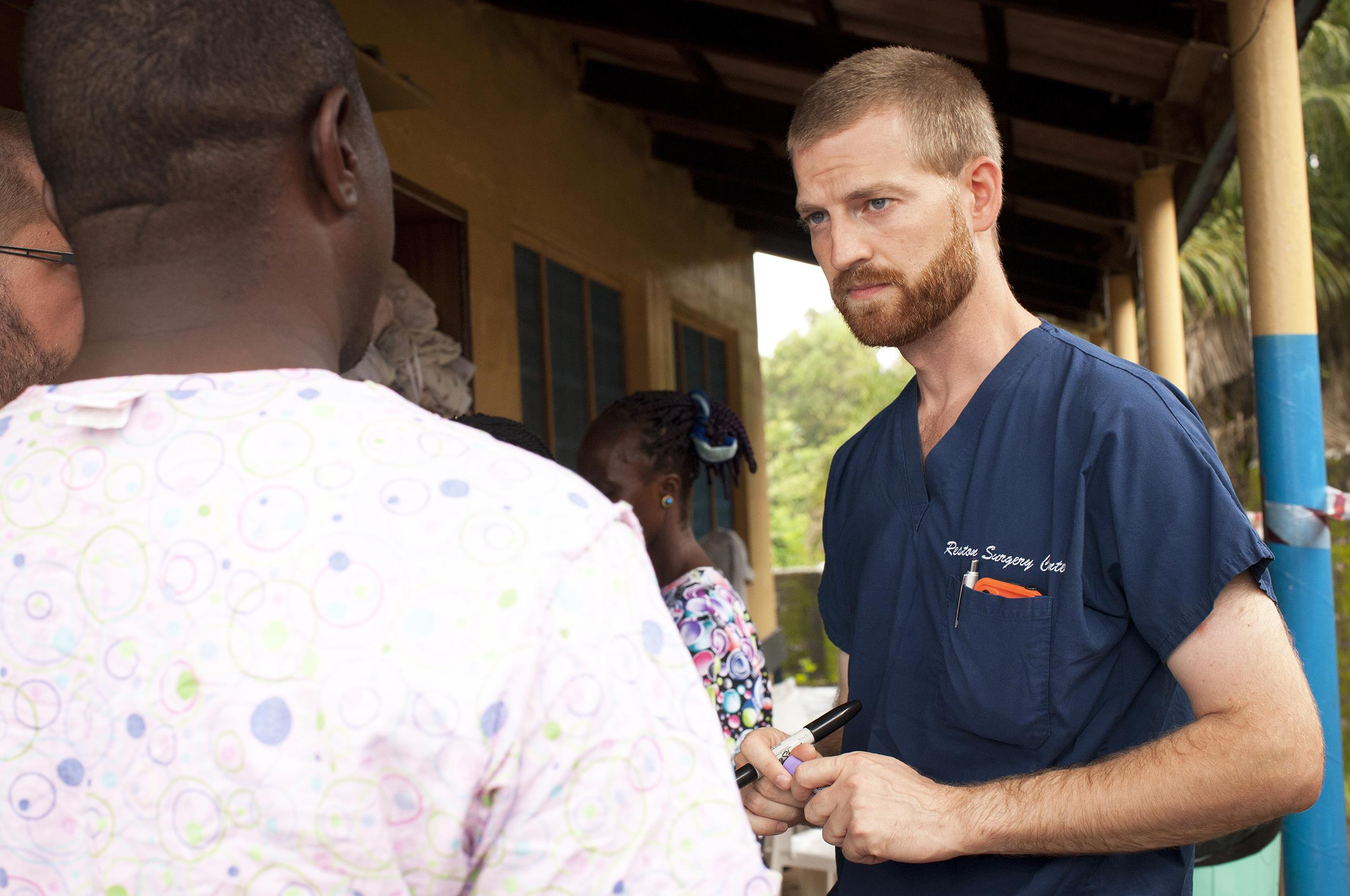 Image: Dr. Keny Brantly, the American doctor who contracted Ebola, in Liberia.