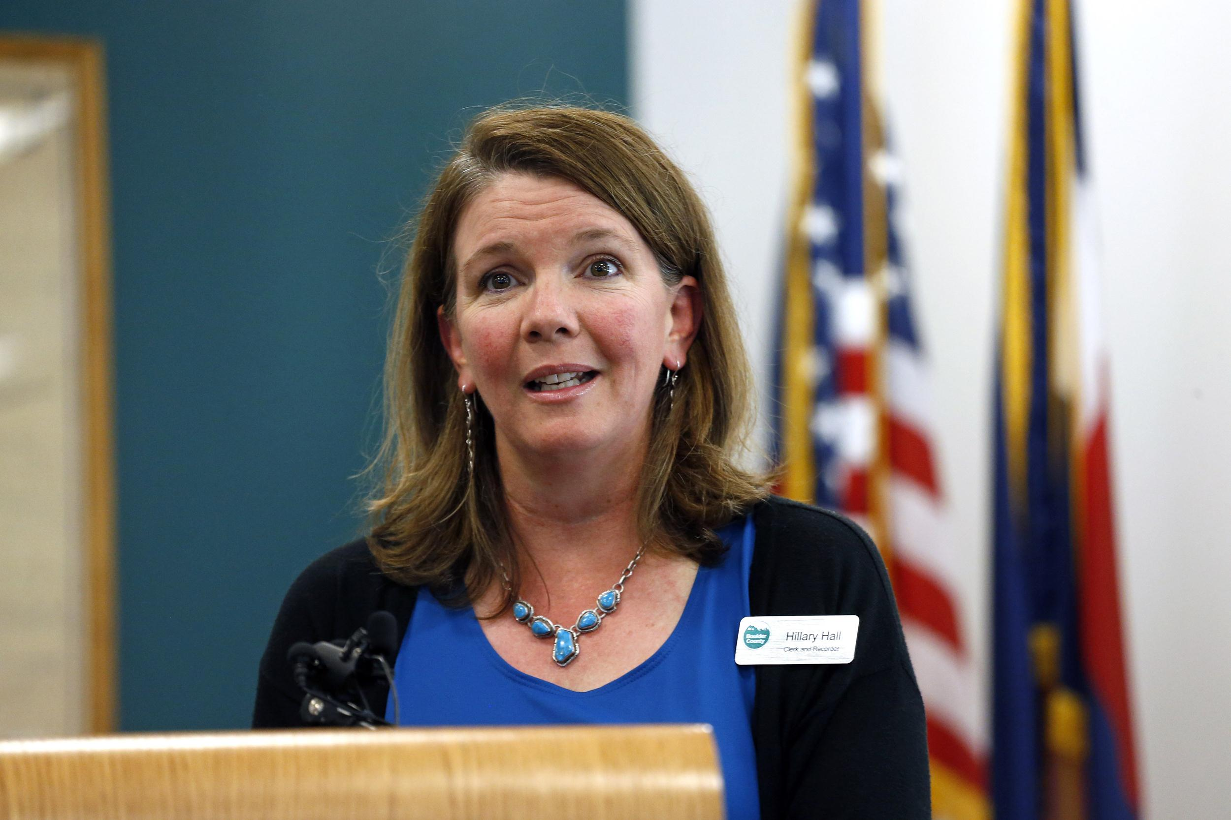 Image: Boulder County Clerk Hillary Hall