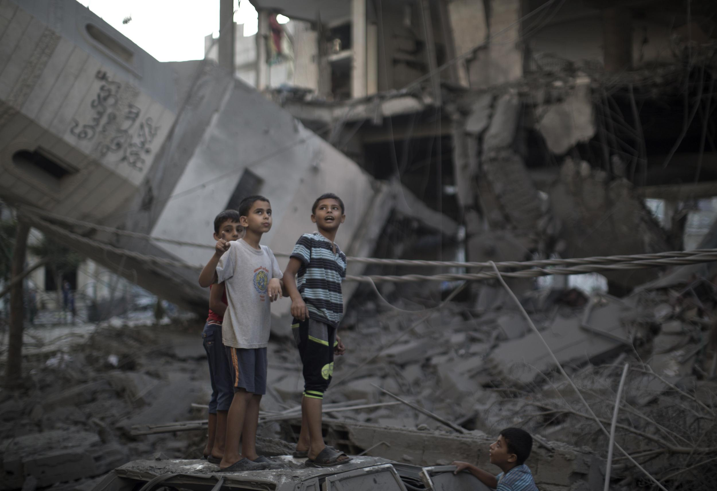 Image: TOPSHOTS-PALESTINIAN-ISRAEL-CONFLICT-GAZA