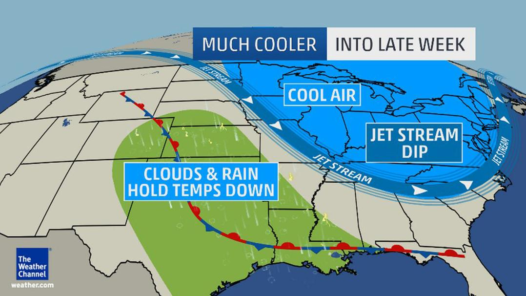 Image: On the heels of one July polar invasion, yet another major cooldown is here to wrap up July.