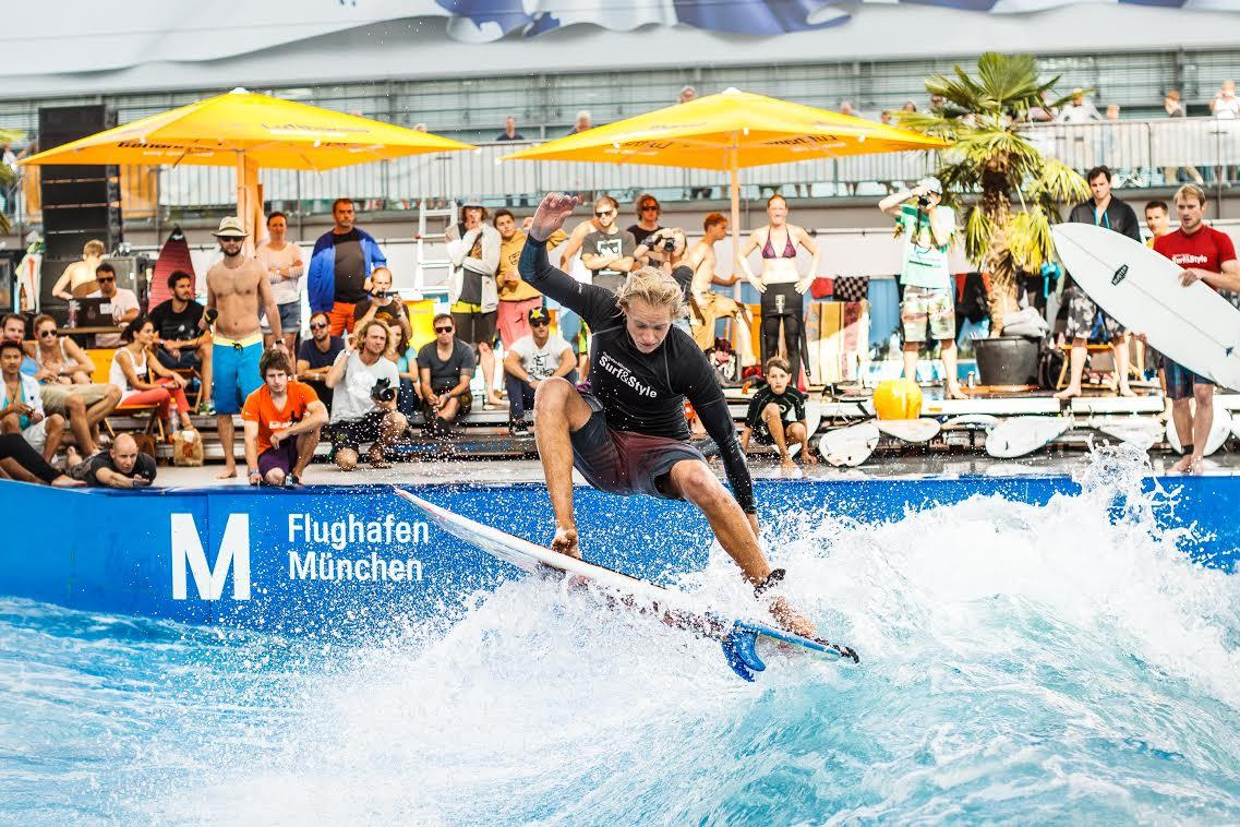 Image: Passengers stuck at Munich Airport can now try free surfing through Aug. 24.
